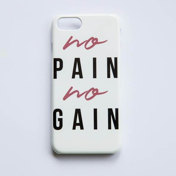 No Pain No Gain Phone Case for iPhone and Android - iPhone 5/5S - Snap Case - Matte