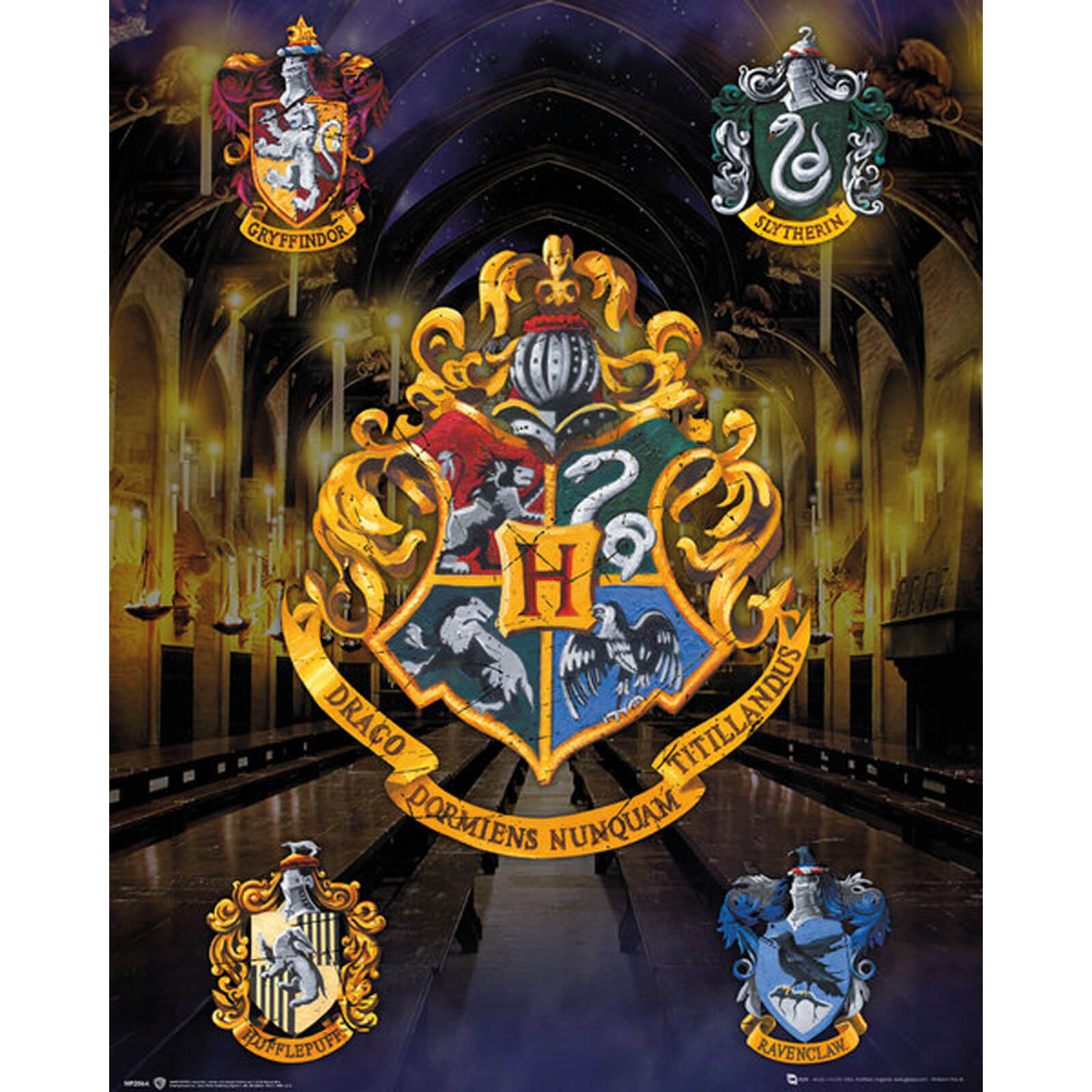Harry Potter House Crests Mini Poster 40 x 50cm