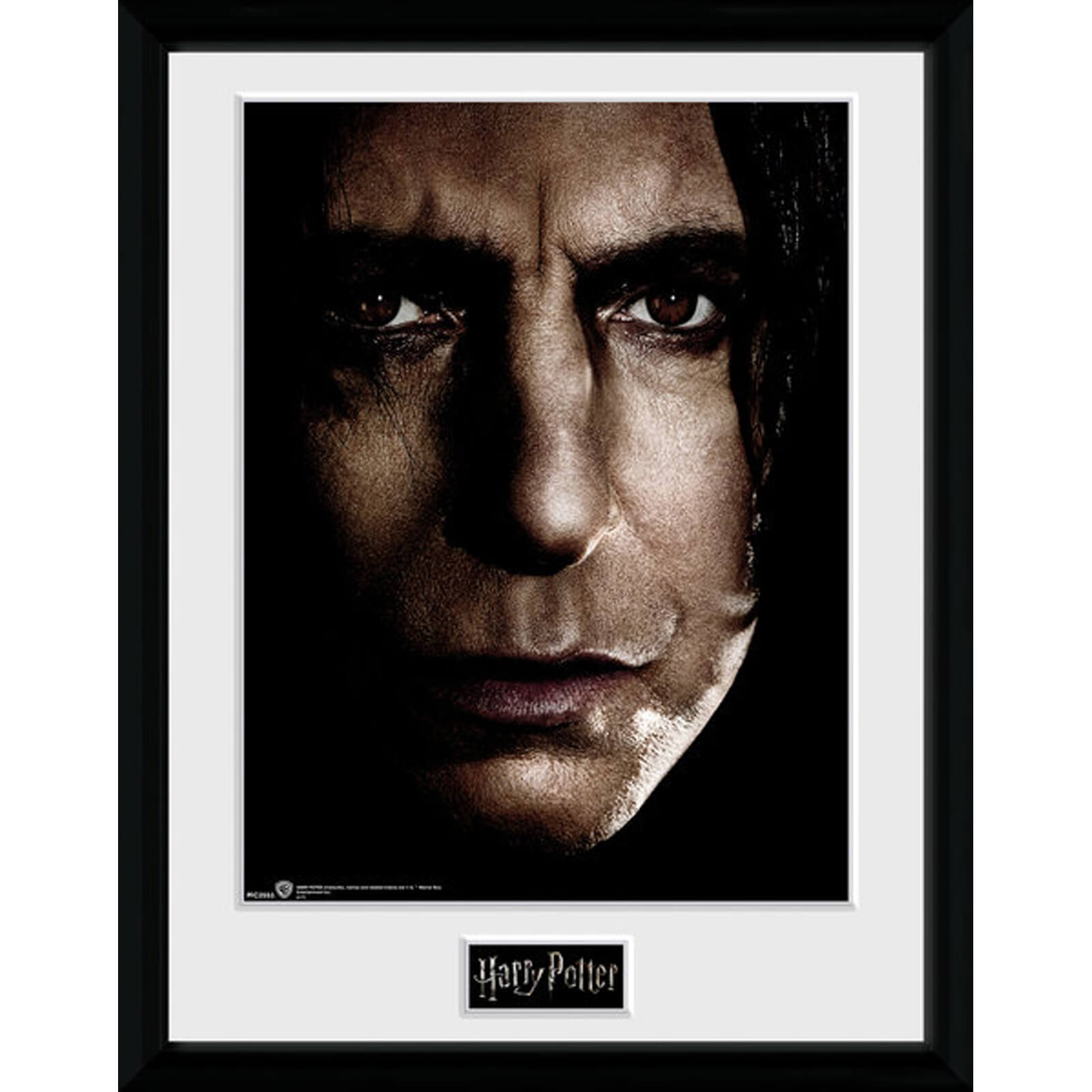 Harry Potter Snape Face 12 x 16 Inches Framed Photograph