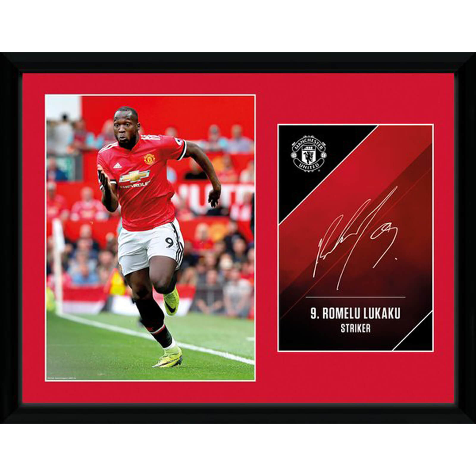 Manchester United Lukaku 17/18 12 x 16 Inches Framed Photograph