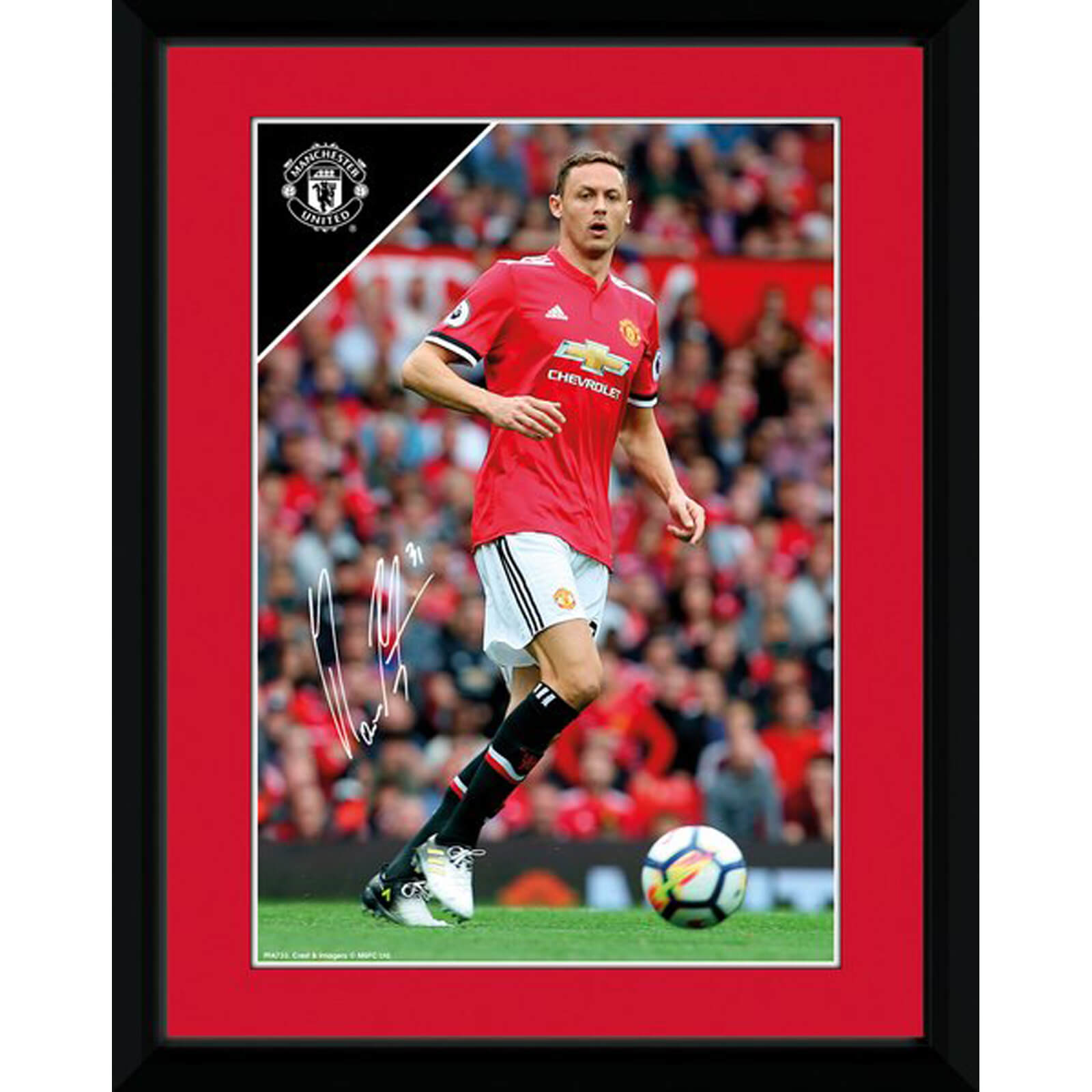 Manchester United Matic 17/18 8 x 6 Inches Framed Photograph