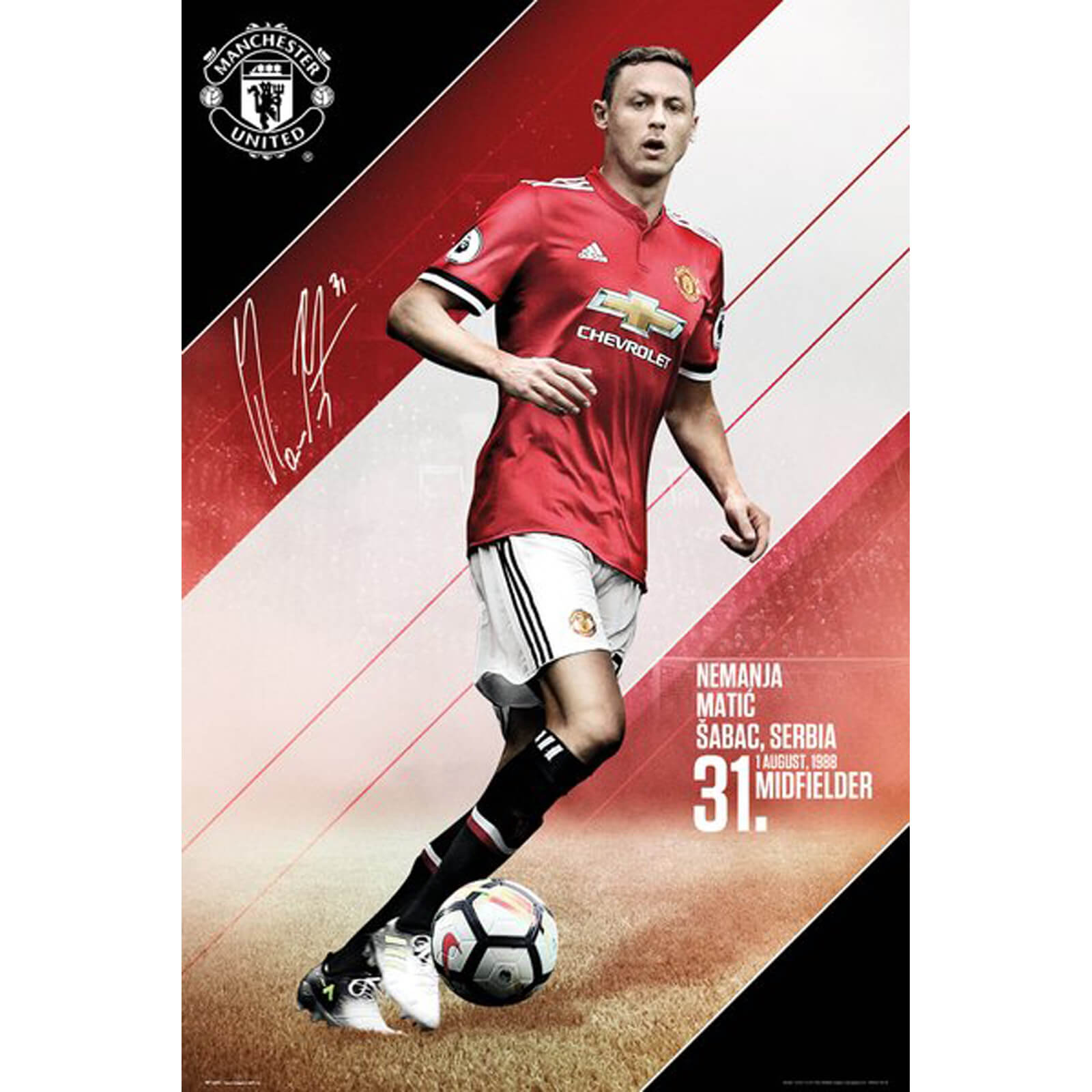 Manchester United Matic 17/18 Maxi Poster 61 x 91.5cm