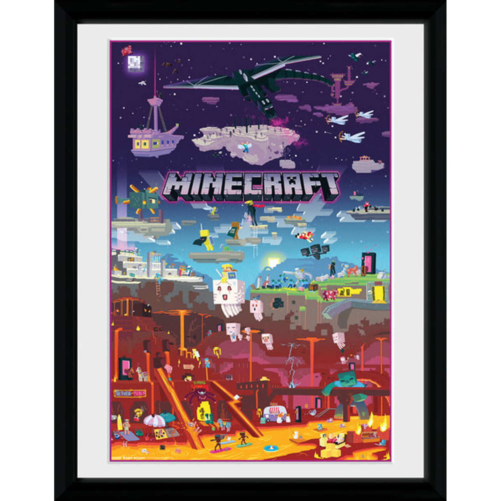 Minecraft World Beyond 12 x 16 Inches Framed Photograph