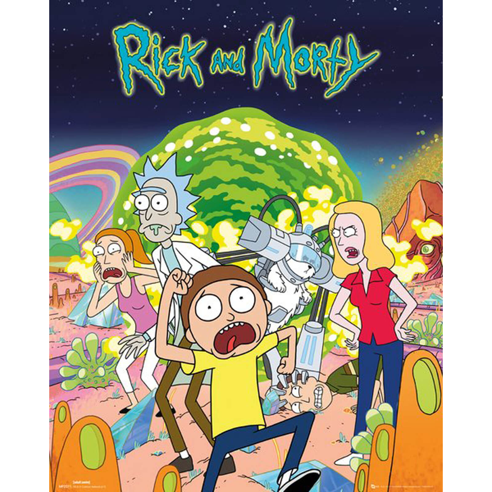 Rick and Morty Group Mini Poster 40 x 50cm
