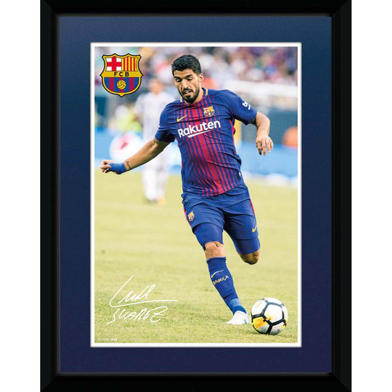 Barcelona Suarez 17/18 8 x 6 Inches Framed Photograph