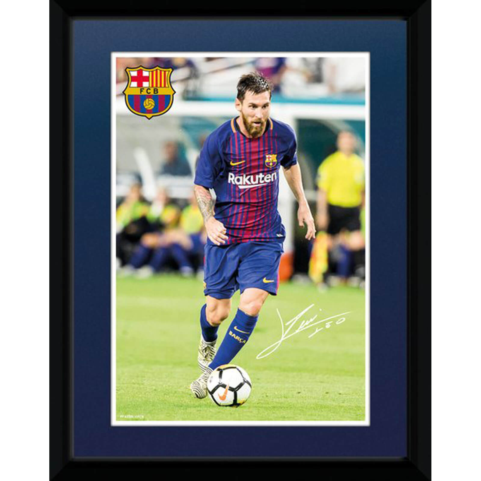 Barcelona Messi 17/18 8 x 6 Inches Framed Photograph
