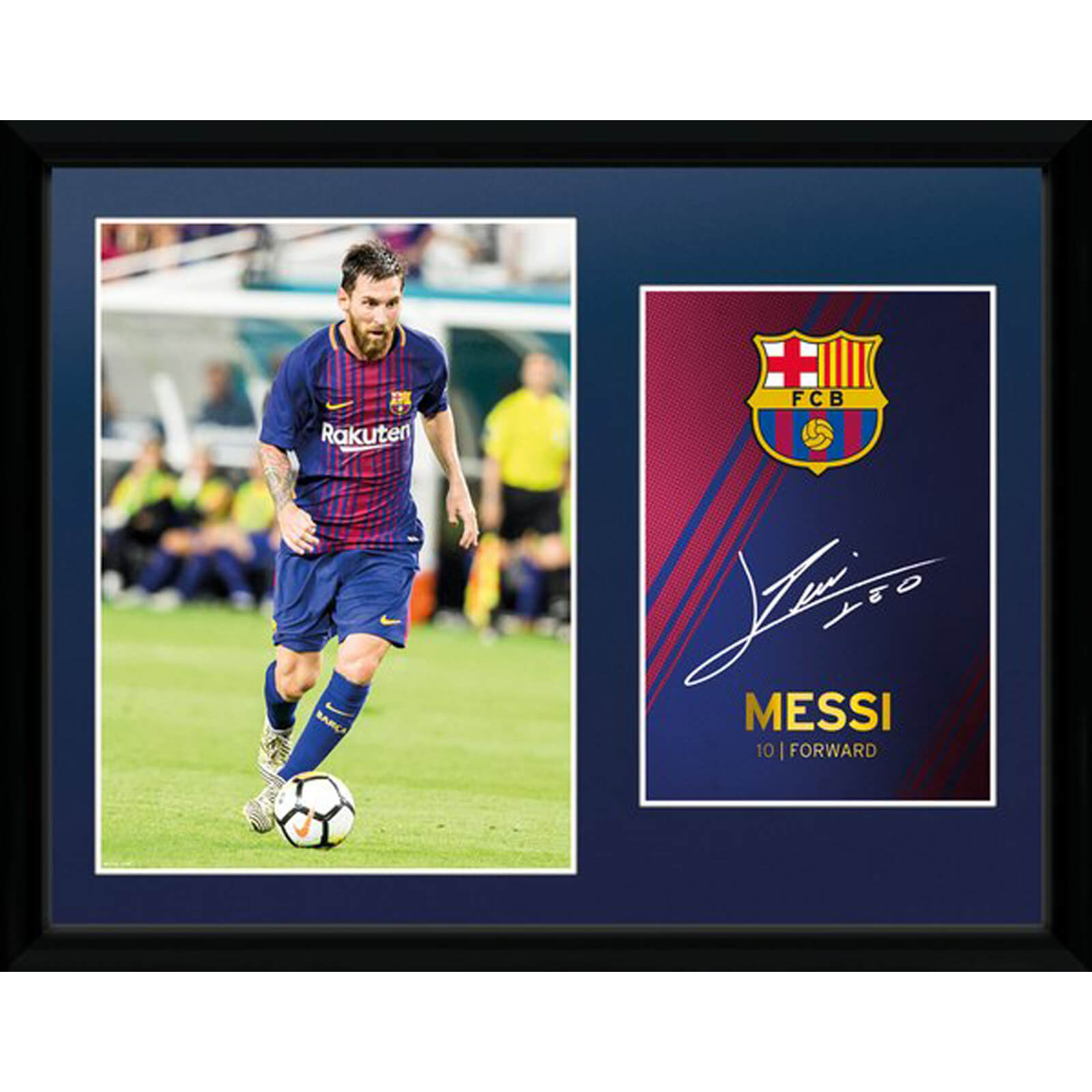 Barcelona Messi 17/18 12 x 16 Inches Framed Photograph