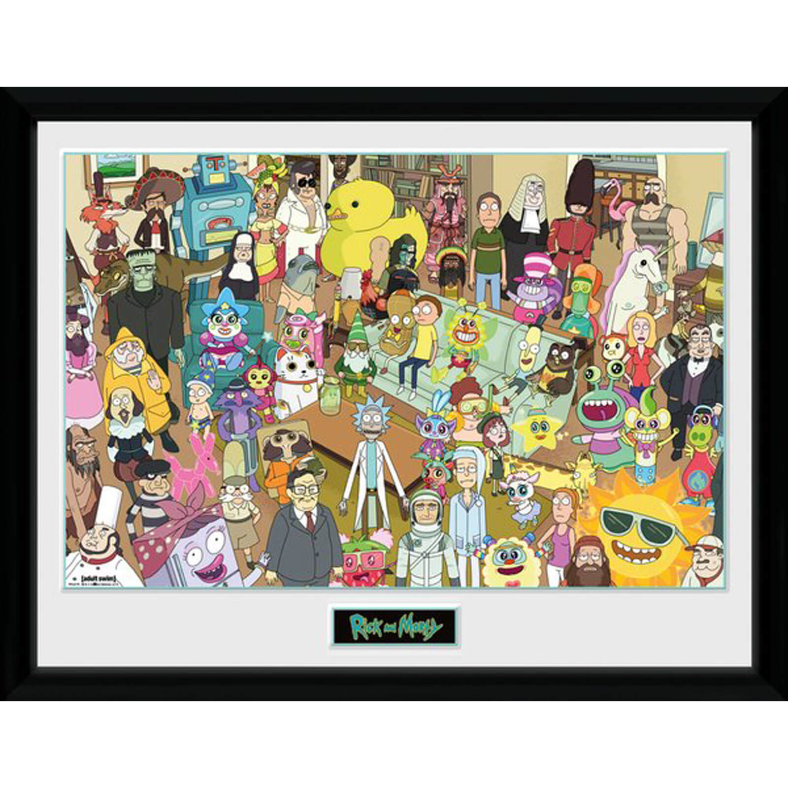 Rick and Morty Total Rickall 12 x 16 Inches Framed Photograph