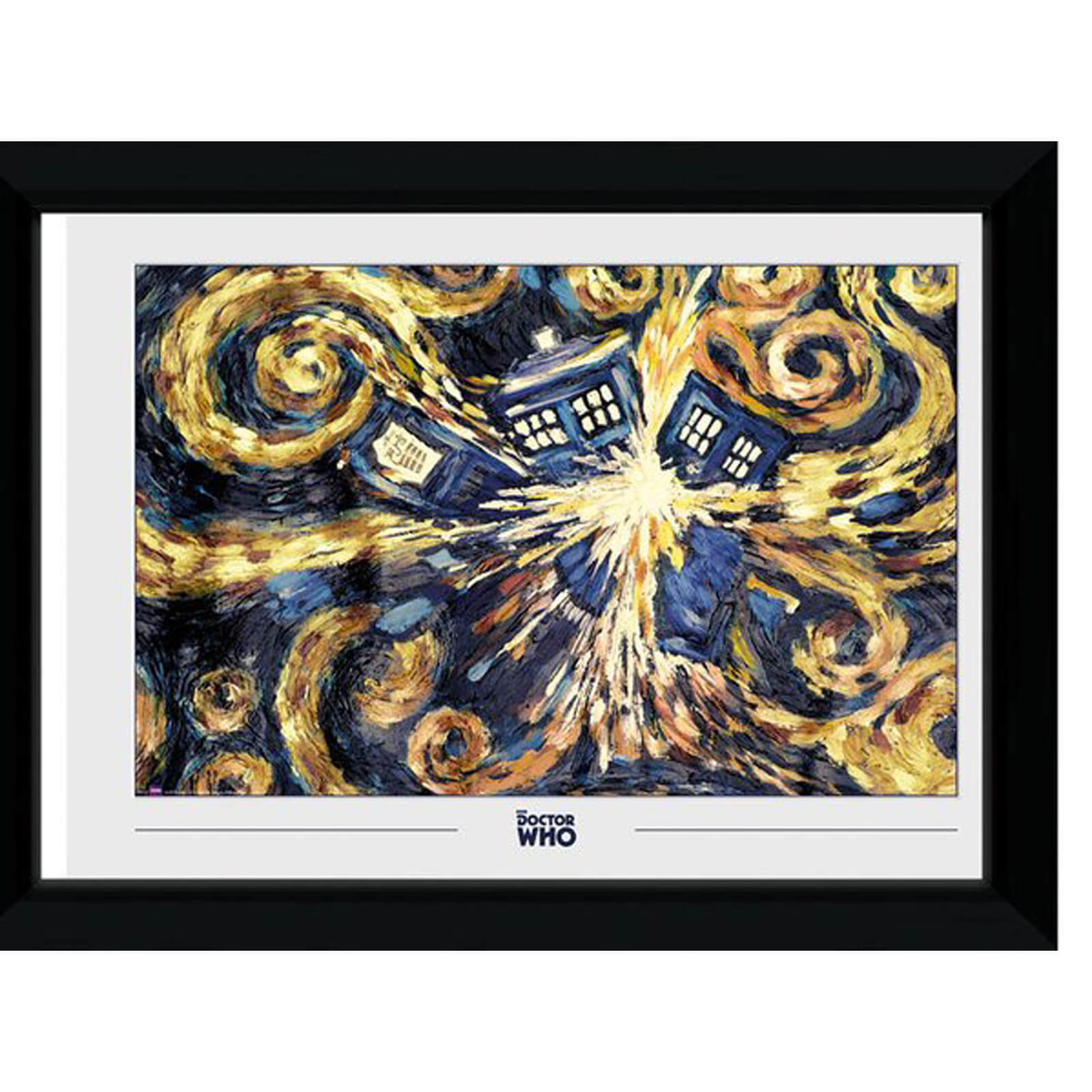Doctor Who Exploding Tardis 50 x 70cm Framed Photograph