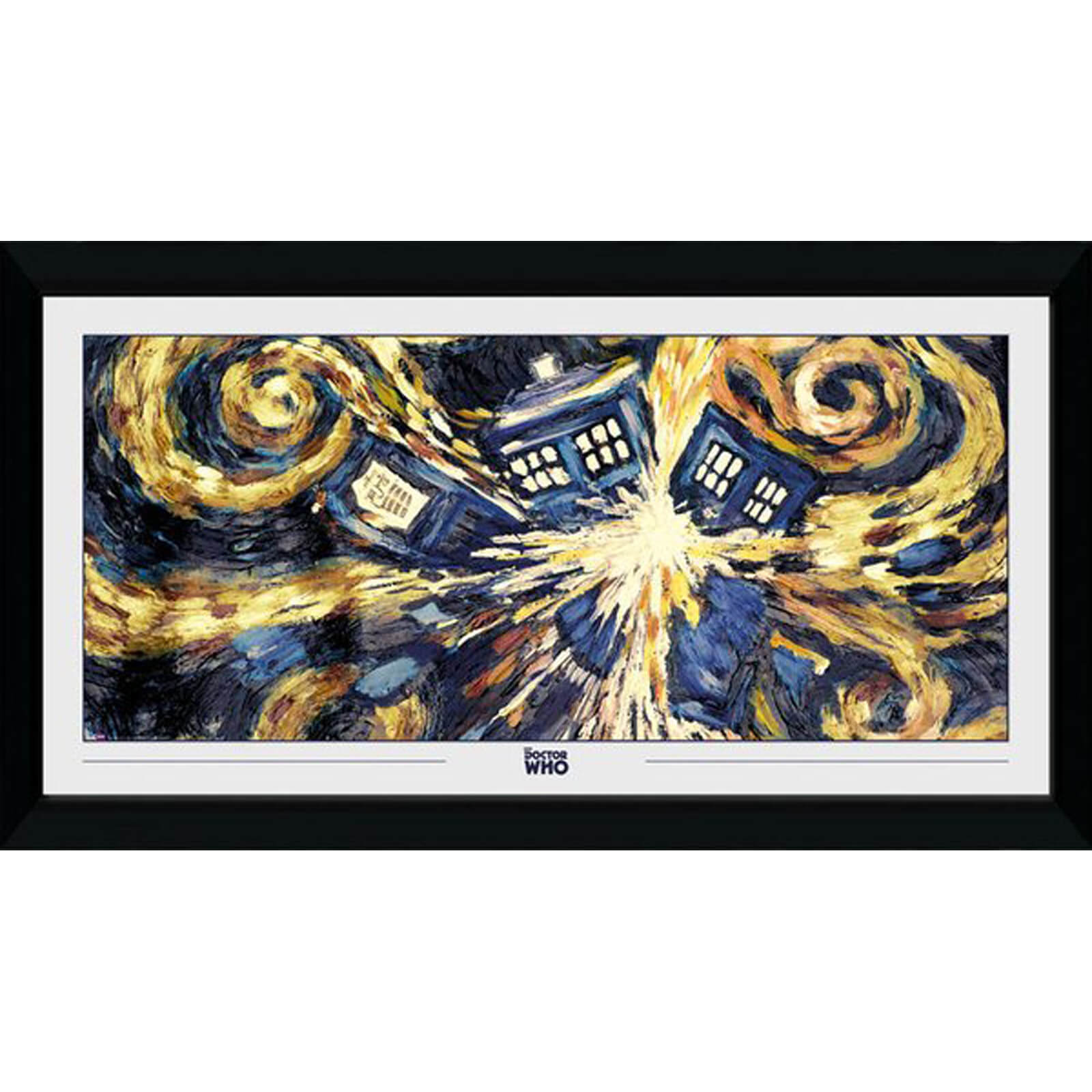 Doctor Who Exploding Tardis 50 x 100cm Framed Photograph