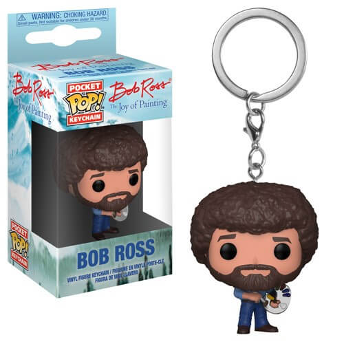 Bob Ross Pop! Keychain