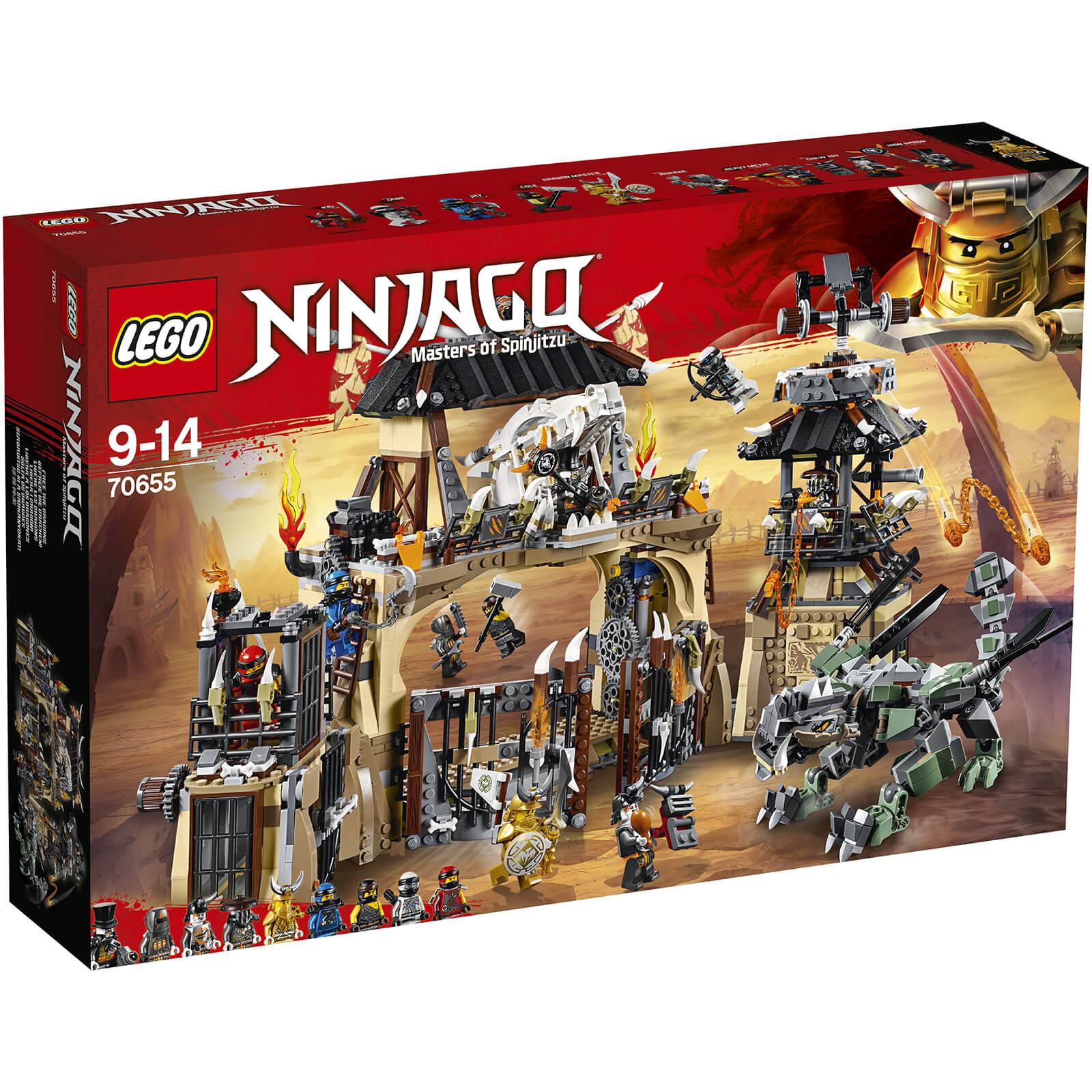 lego ninjago dragon pit 70655 iwoot. Black Bedroom Furniture Sets. Home Design Ideas