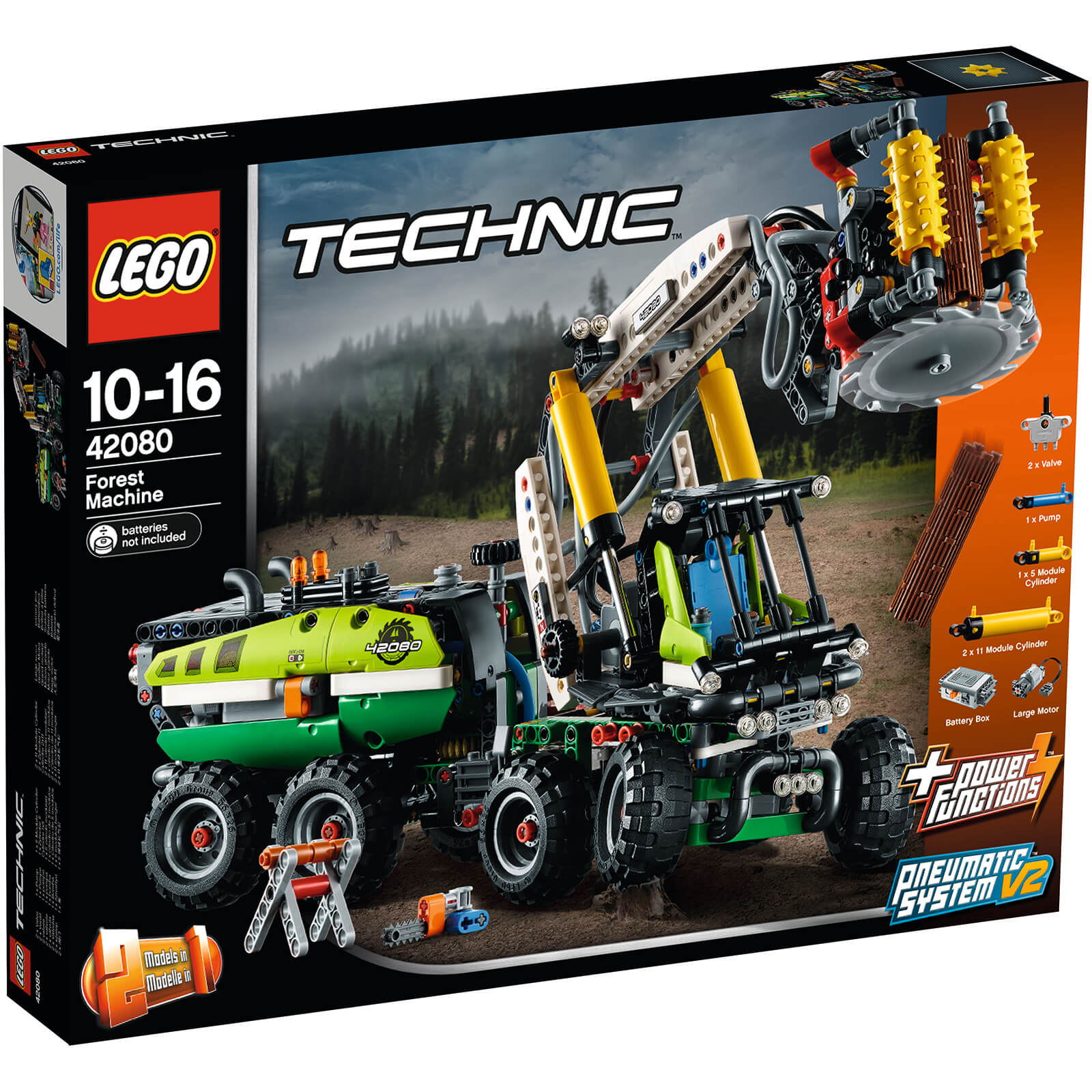 Lego Technic With Power Functions Forest Machine 42080 Toys