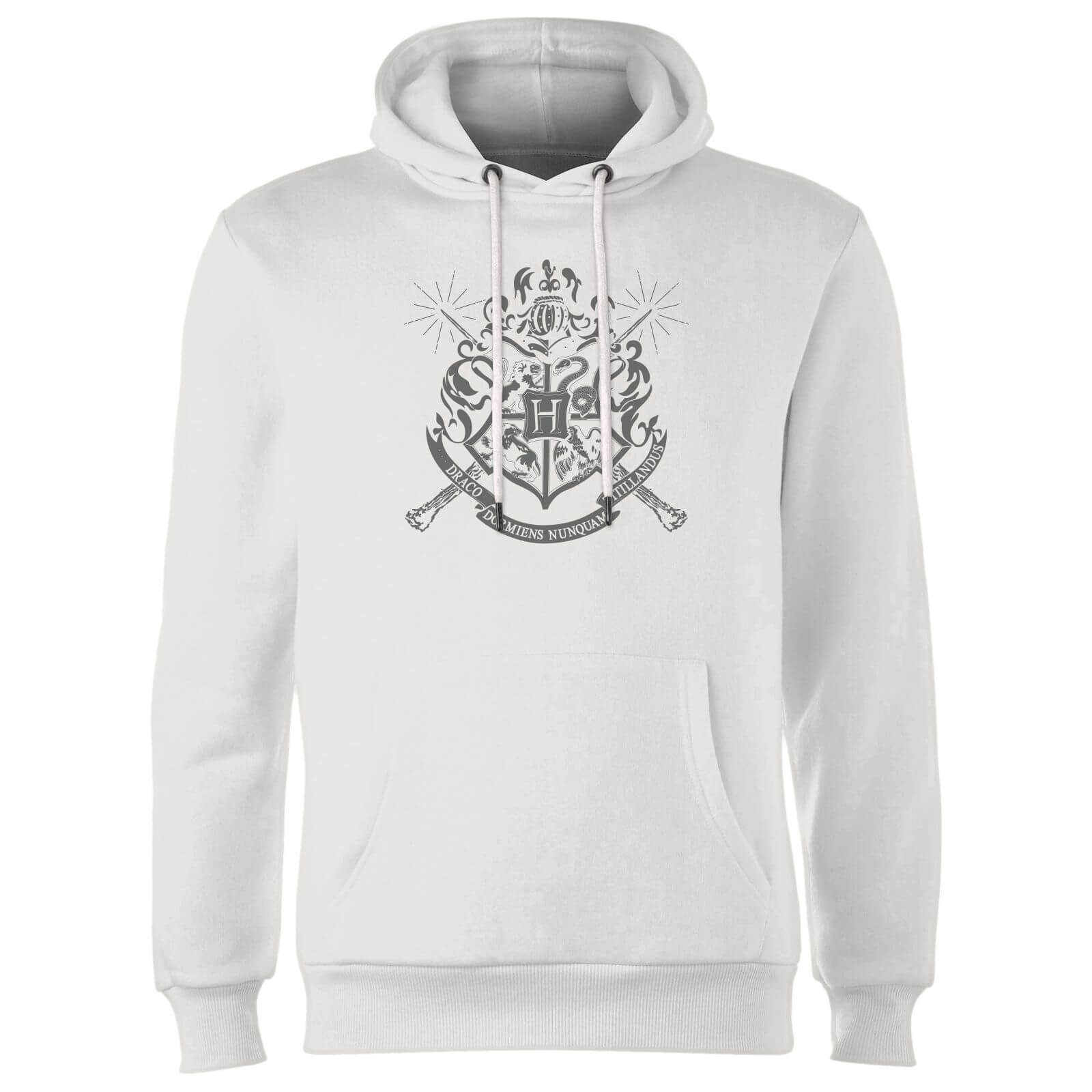 Harry Potter Hogwarts House Crest Hoodie - White