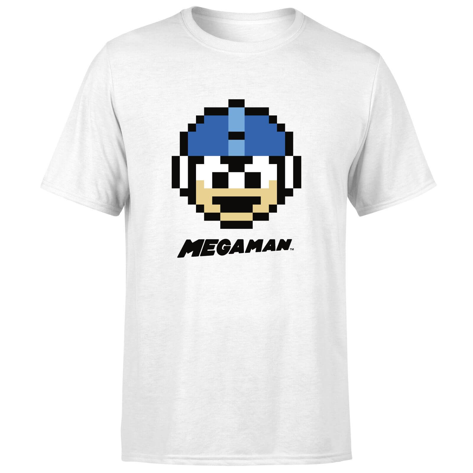 Mega Man Pixel Face Men