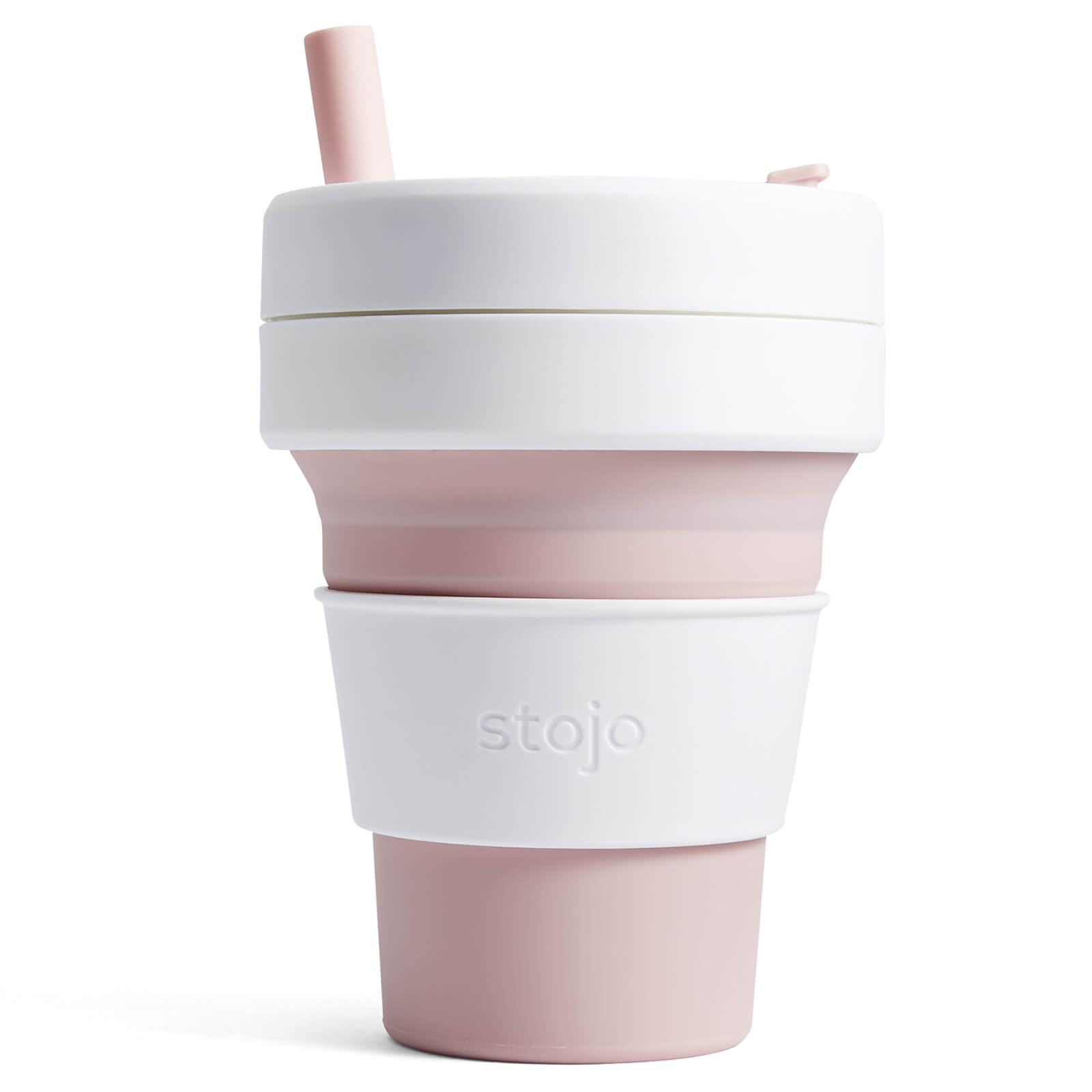 Stojo 16oz Biggie Collapsible Coffee Cup - Rose