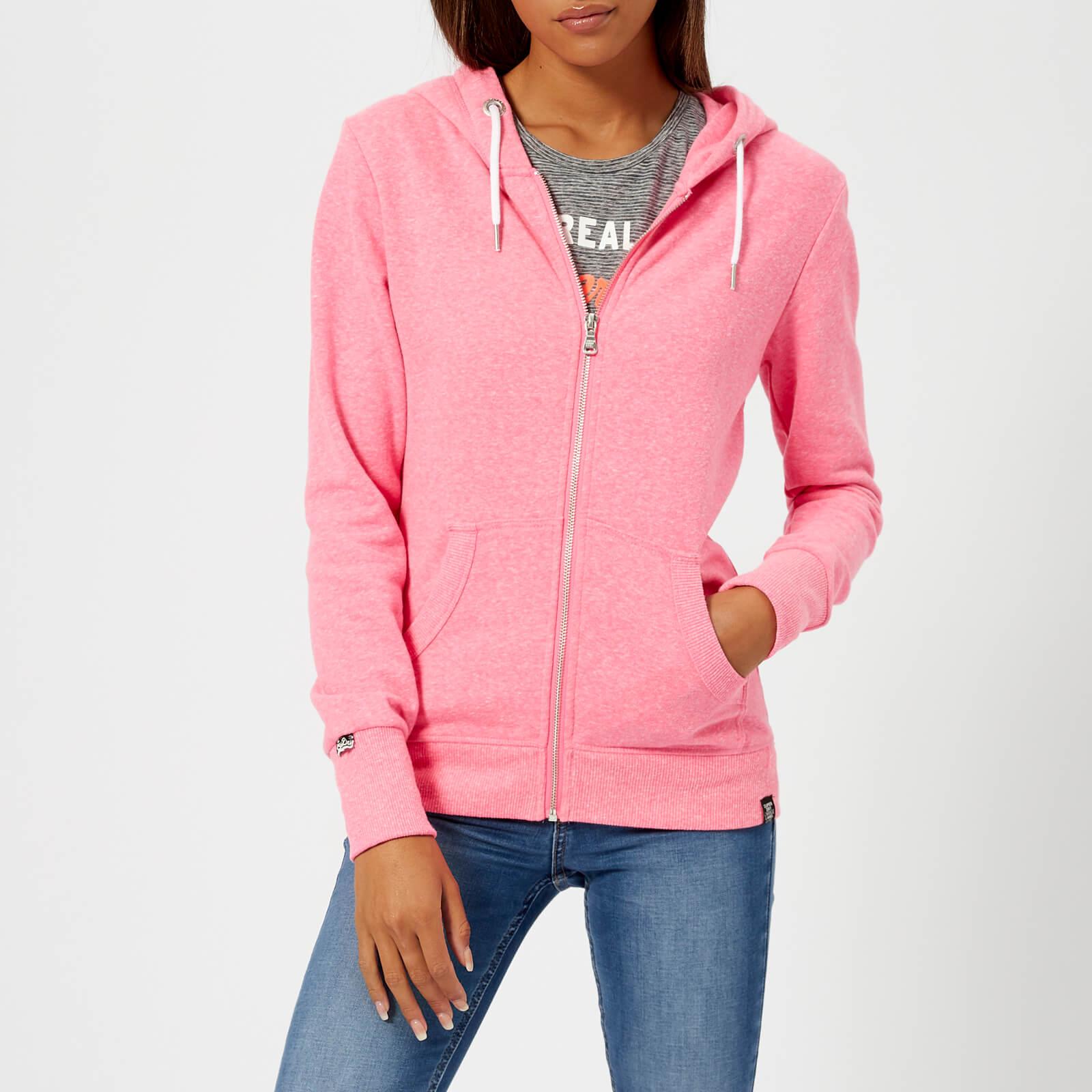 481a0deee3cb5 Superdry Women s Orange Label Luxe Loopback Zip Hoody - Blizzard Pink Snowy  Womens Clothing