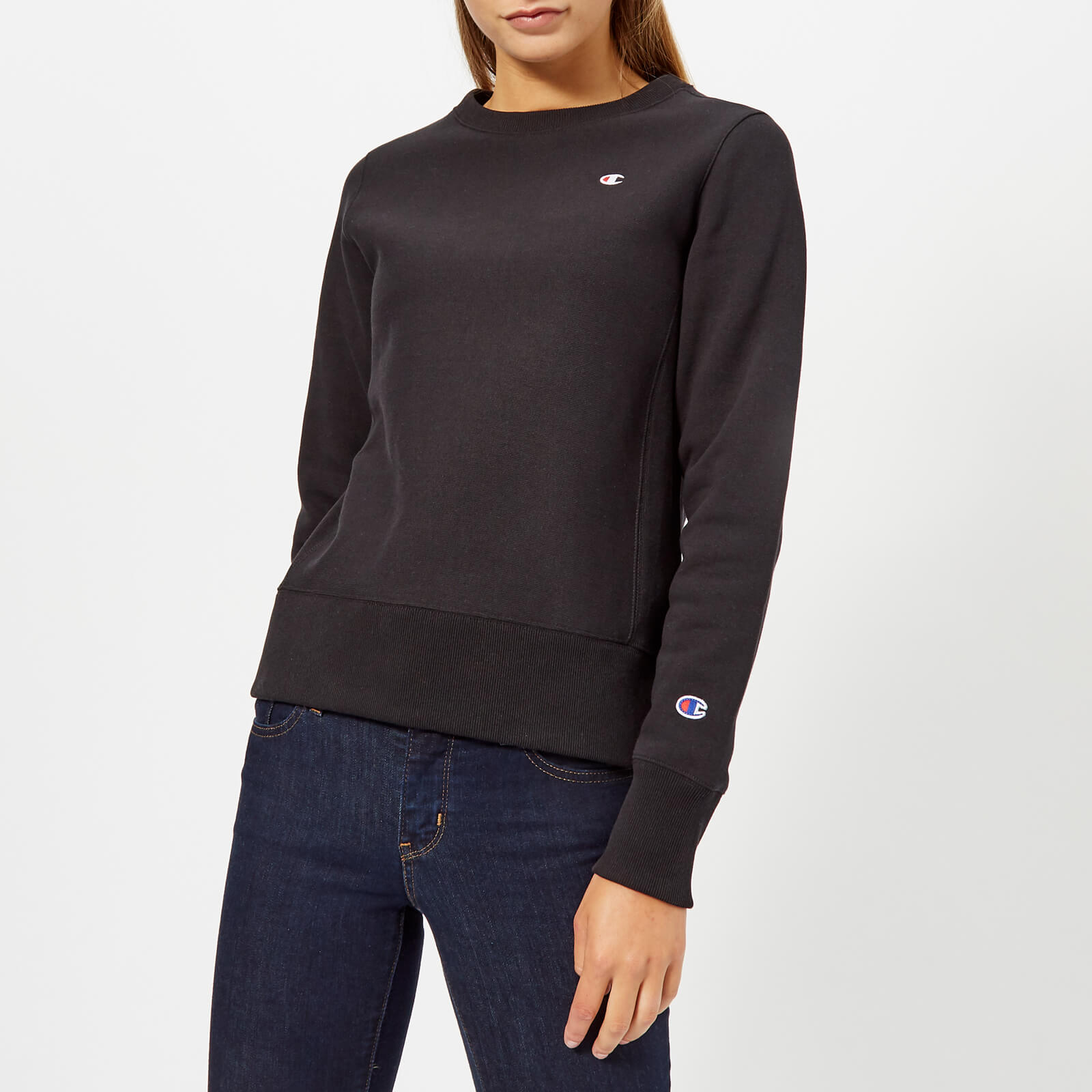 c63ab0497 Champion Women's Crew Neck Sweatshirt - Black