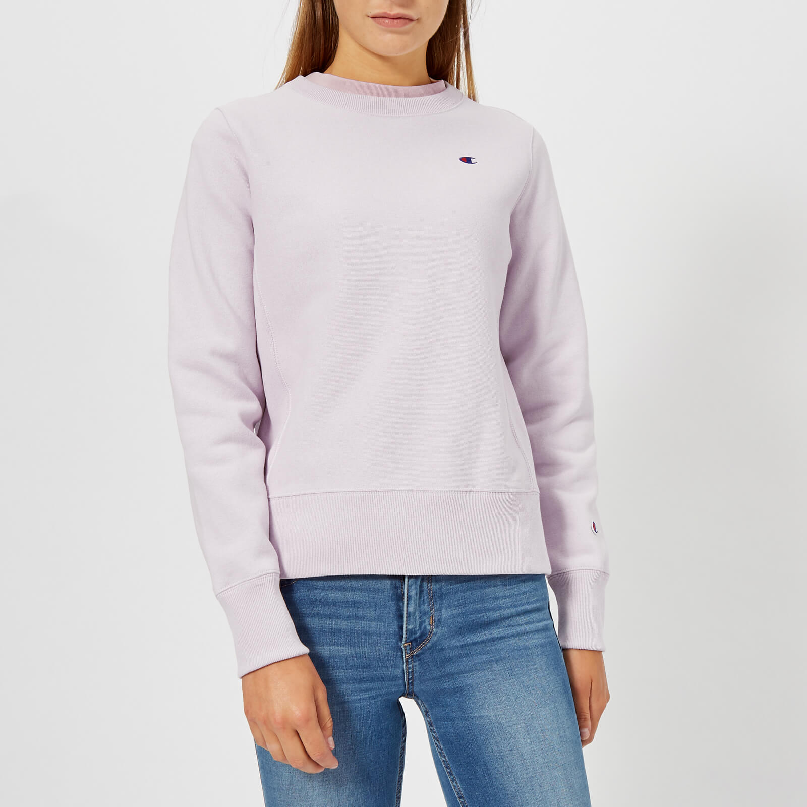 30598f719b1c Champion Women s Crew Neck Sweatshirt - Lilac Womens Clothing ...
