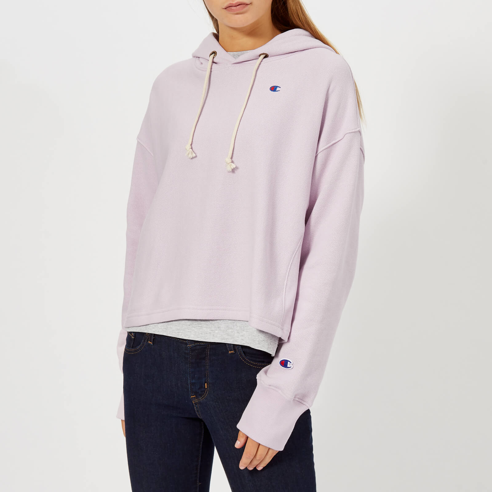 893413f73662 Champion Women s Hooded Cropped Sweatshirt - Lilac Womens Clothing ...