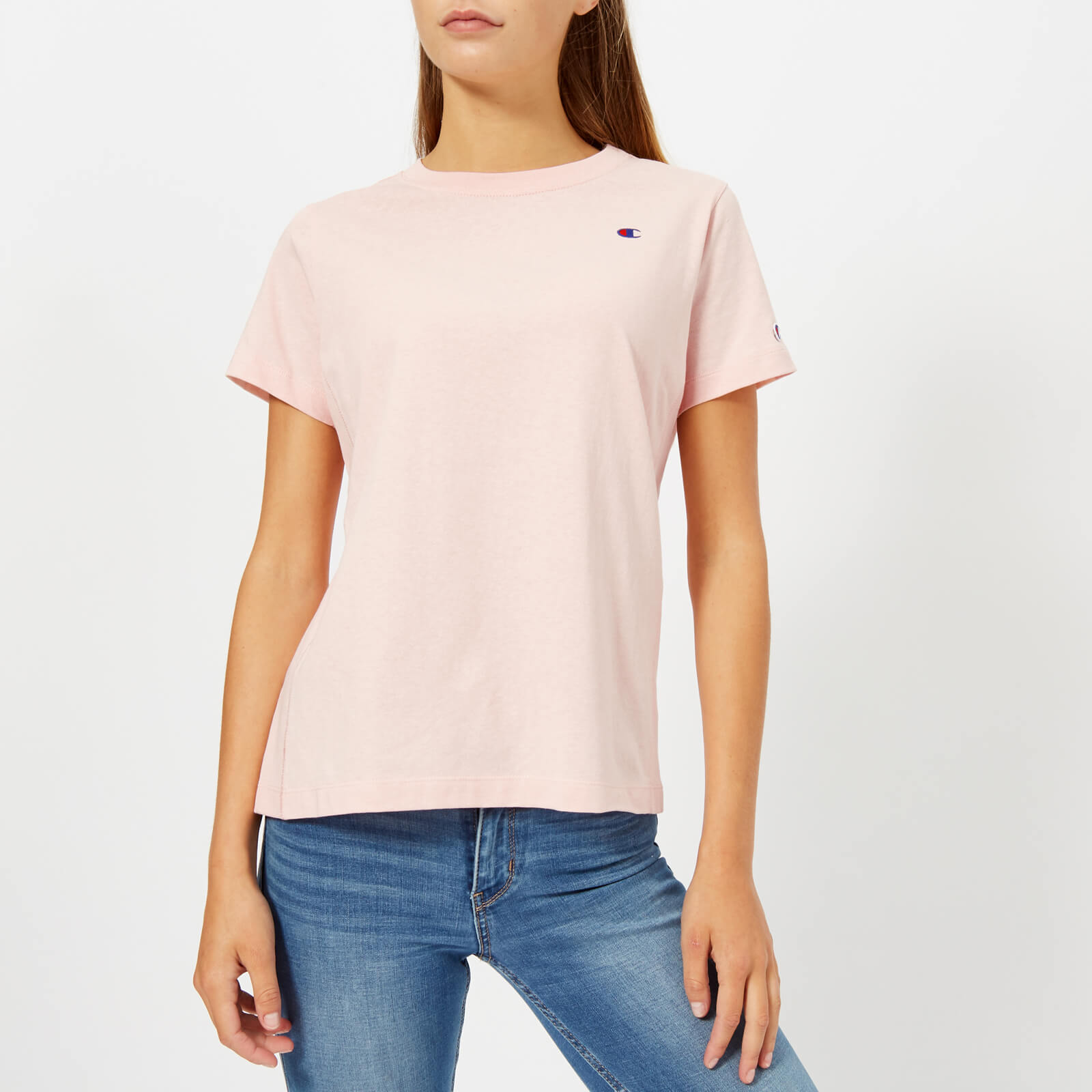 48eddc4b Champion Women's Short Sleeve T-Shirt - Pink - Free UK Delivery over £50