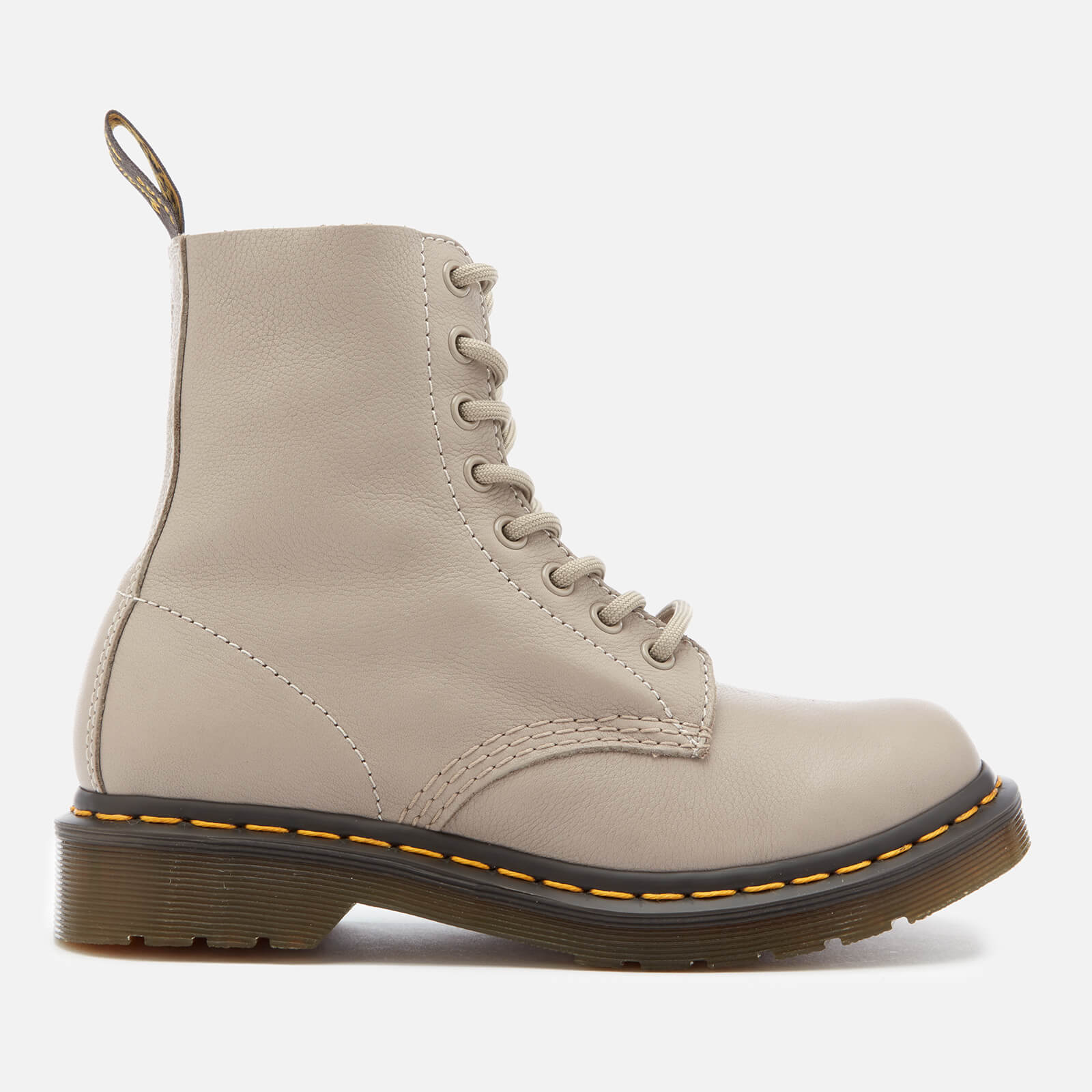 b06bd21b873166 Dr. Martens Women's 1460 Virginia Leather Pascal 8-Eye Boots - Taupe - Free  UK Delivery over £50