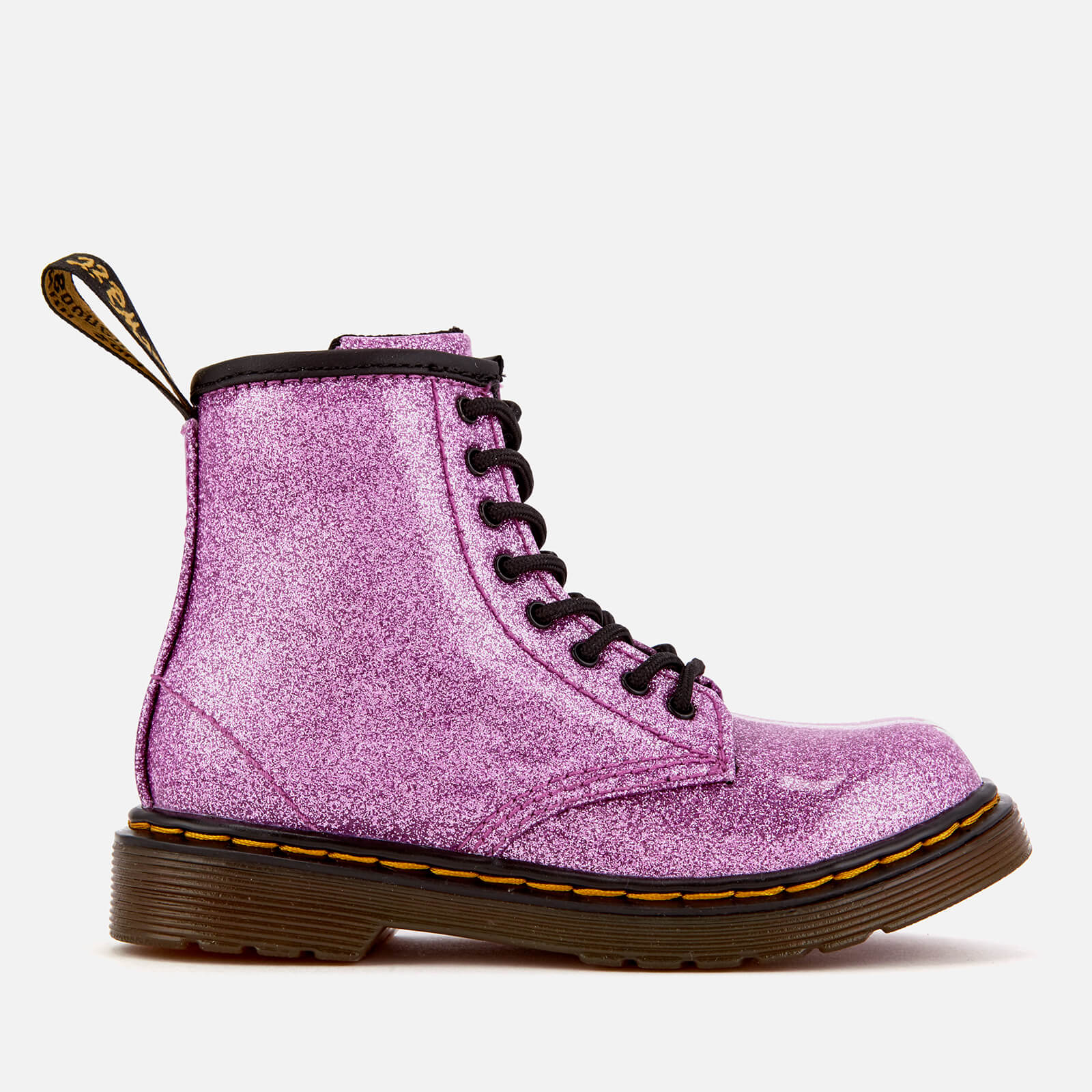 ee4695d5bc70 Dr. Martens Kids' 1460 T Glitter Lace Up Boots - Dark Pink | FREE UK  Delivery | Allsole