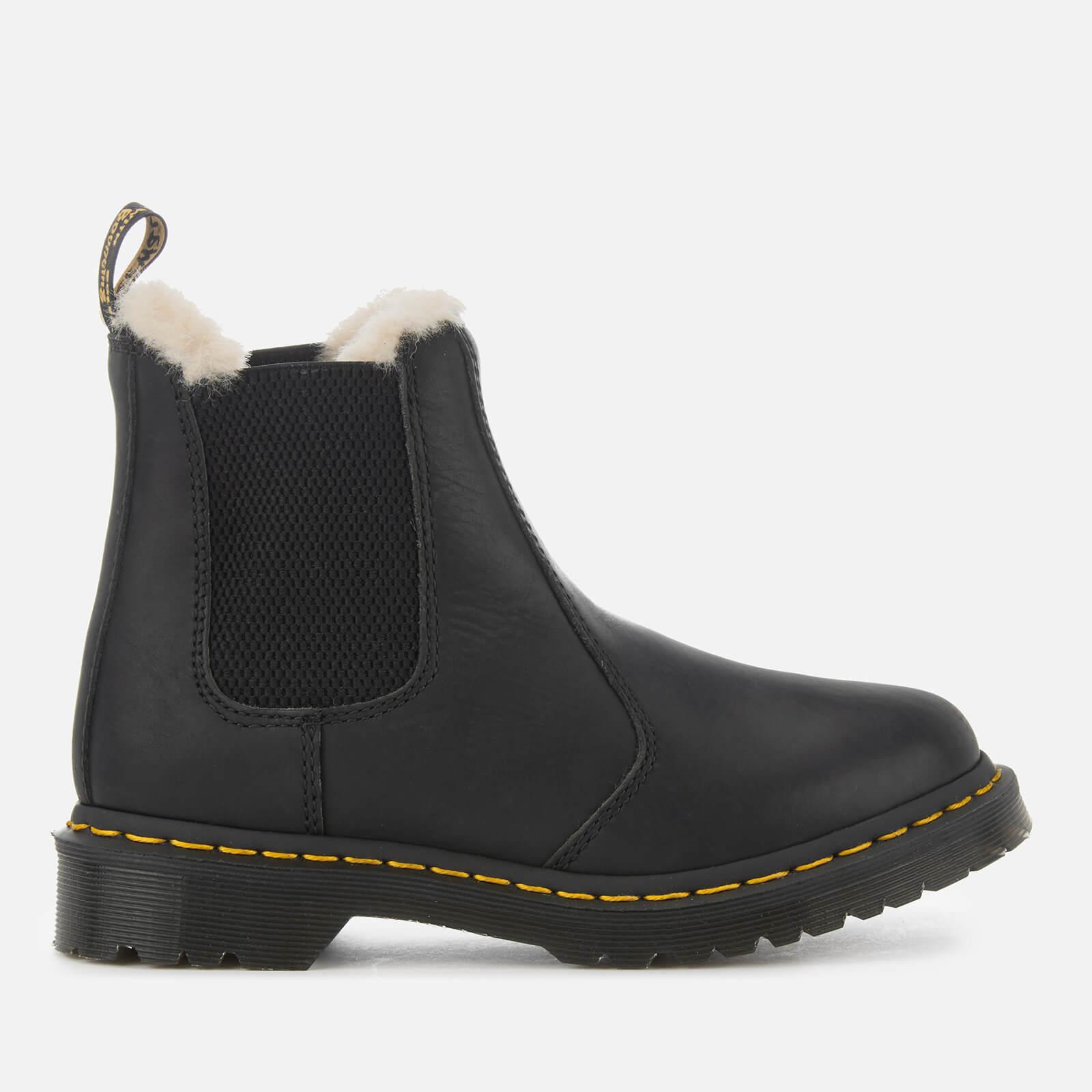 Dr. Martens Women's 2976 Leonore Faux Fur Lined Chelsea Boots - Black - UK 4 - Black
