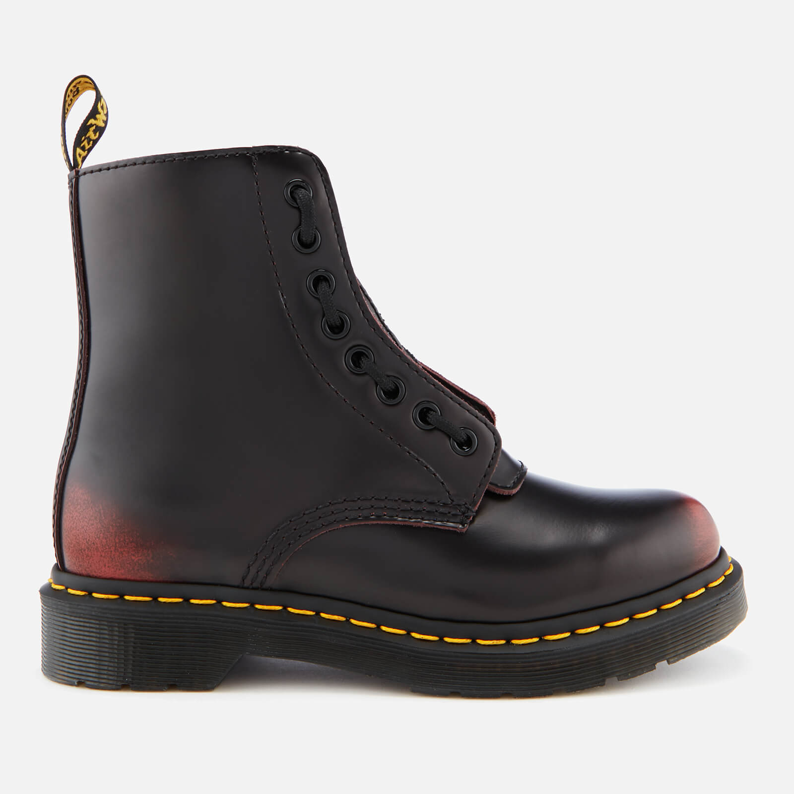 b4b4a6ffb4a10 Dr. Martens Women's 1460 Pascal Front Zip Arcadia Leather 8-Eye Boots - Cherry  Red | FREE UK Delivery | Allsole
