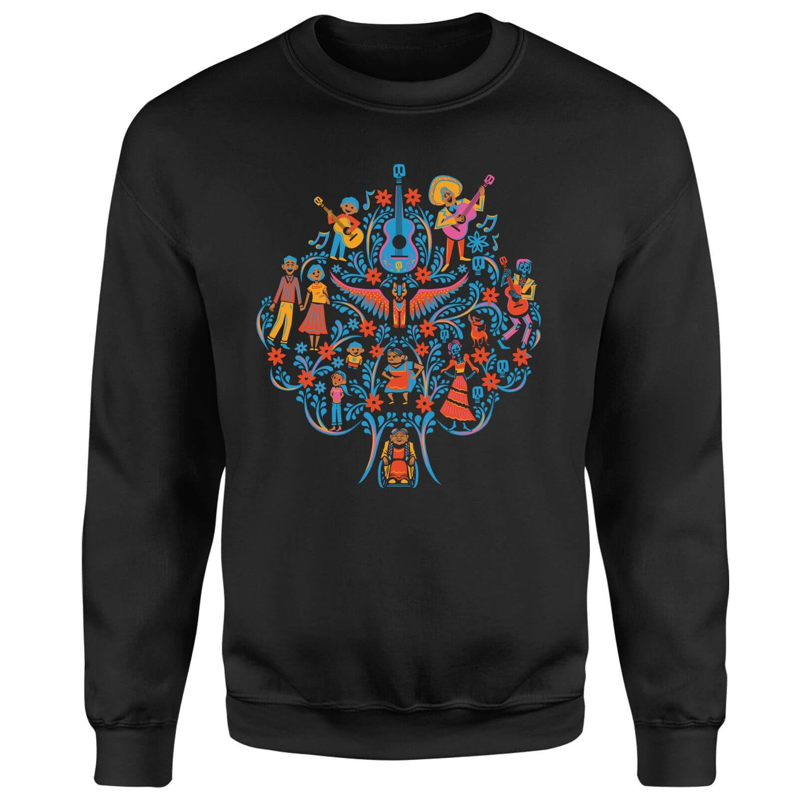 Coco Tree Pattern Sweatshirt - Black