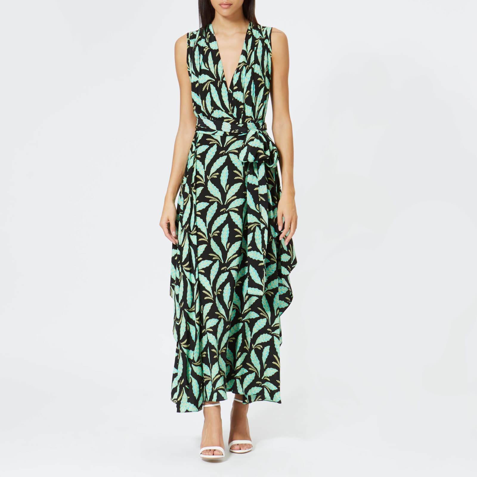 fa1cf41ba471 Diane von Furstenberg Women s Sleeveless Draped V Neck Maxi Dress - Mason  Black - Free UK Delivery over £50