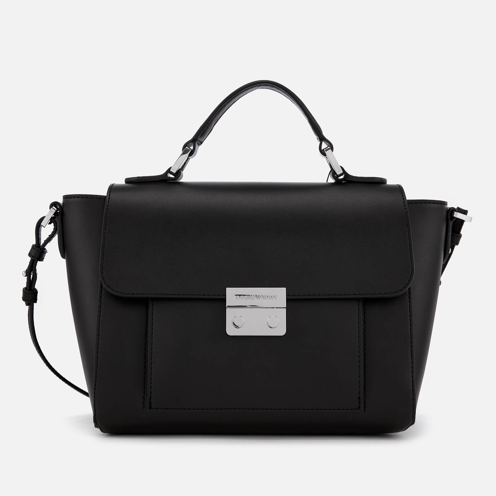 Emporio Armani Women s Top Handle Small Tote Bag - Black - Free UK Delivery  over £50 c3d6d36e89a0d