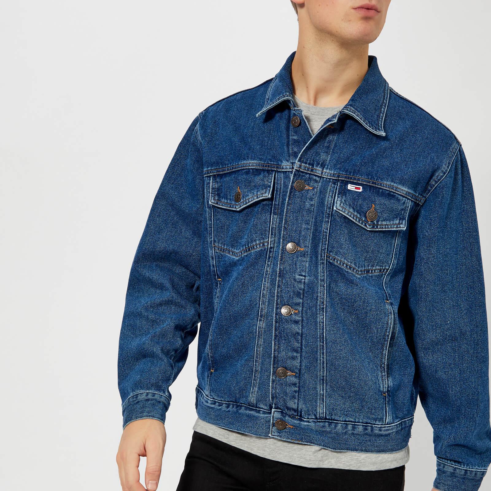 086596e55ee Tommy Jeans Men's Classic Denim Jacket - Mid Blue Rigid Clothing |  TheHut.com