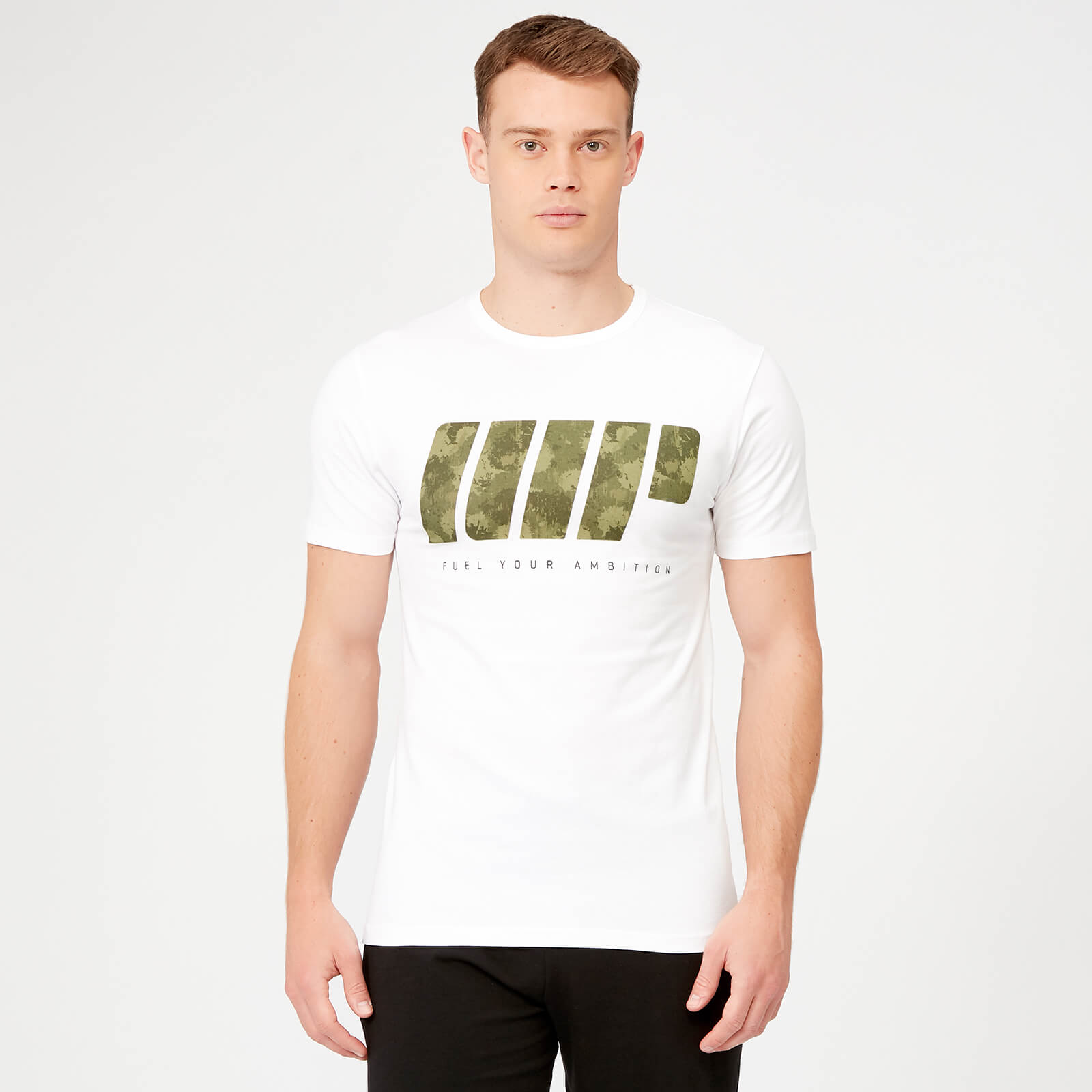 MP Dark Green Camo T-Shirt - White - XS