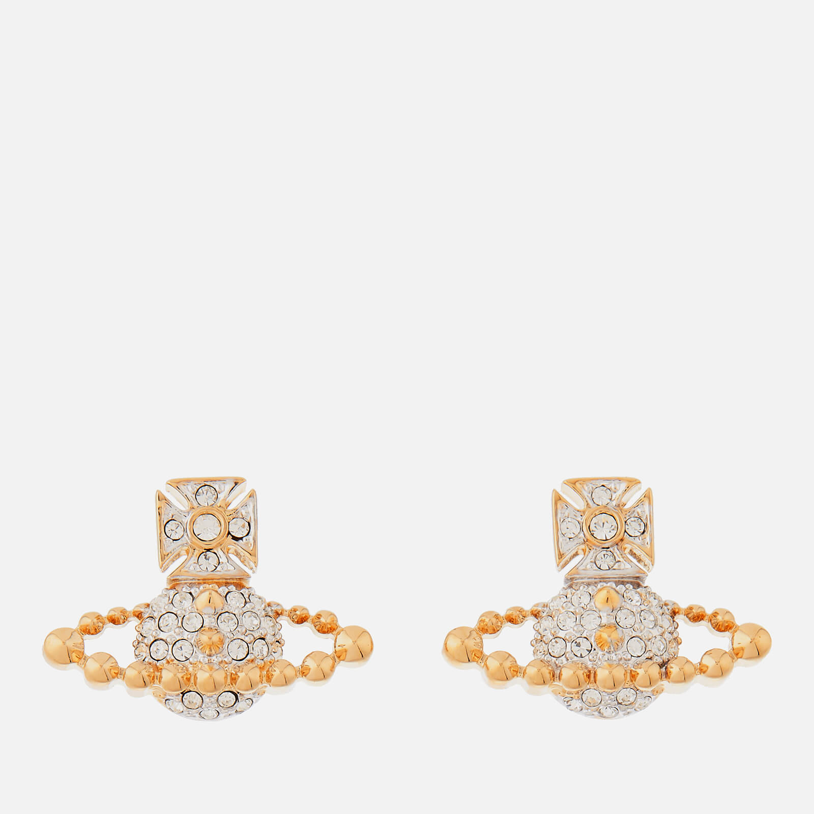 2befed0a89dd82 Vivienne Westwood Women's Lena Bas Relief Earrings - Rhodium/Gold - Free UK  Delivery over £50
