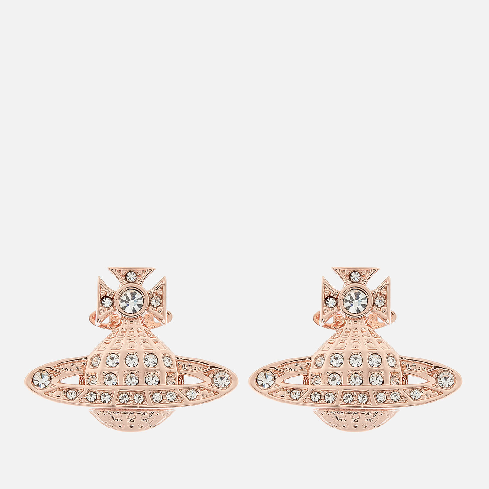 d2f8a522040 Vivienne Westwood Women's Mini Bas Relief Earrings - Pink Gold - Free UK  Delivery over £50