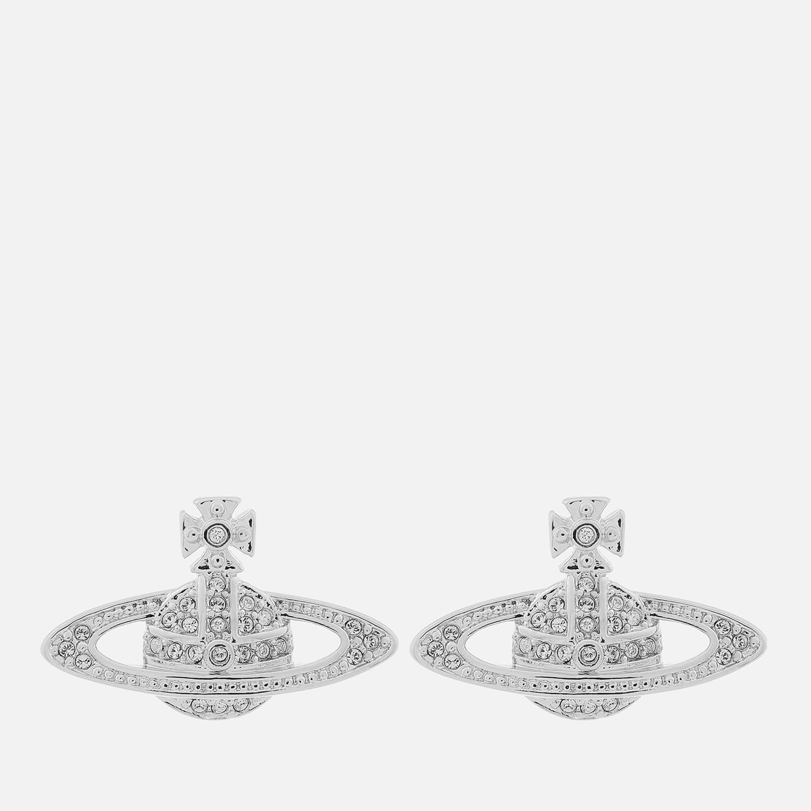 1daae2c9171 Vivienne Westwood Women's Mini Bas Relief Earrings - Rhodium - Free UK  Delivery over £50