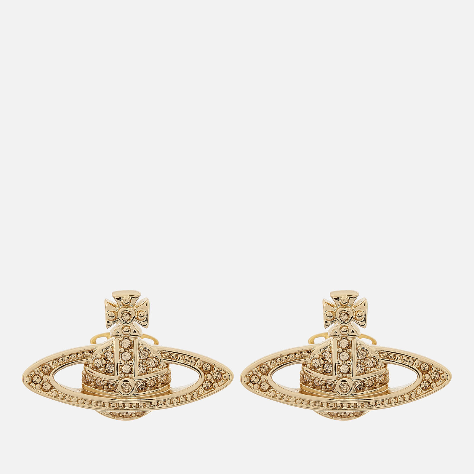 46082348846 Vivienne Westwood Women's Mini Bas Relief Earrings - Gold - Free UK  Delivery over £50