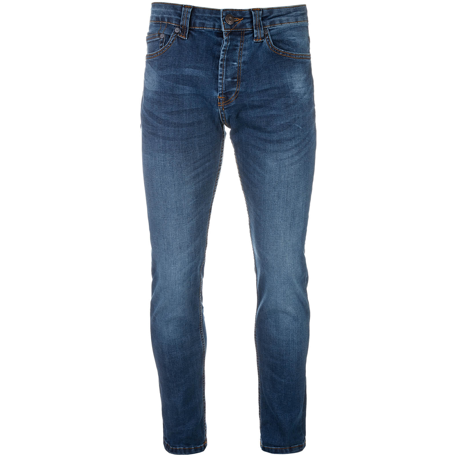 Mens Designer style Smith /& Jones Cotton Dark Blue Denims Regular Fit New FURIO