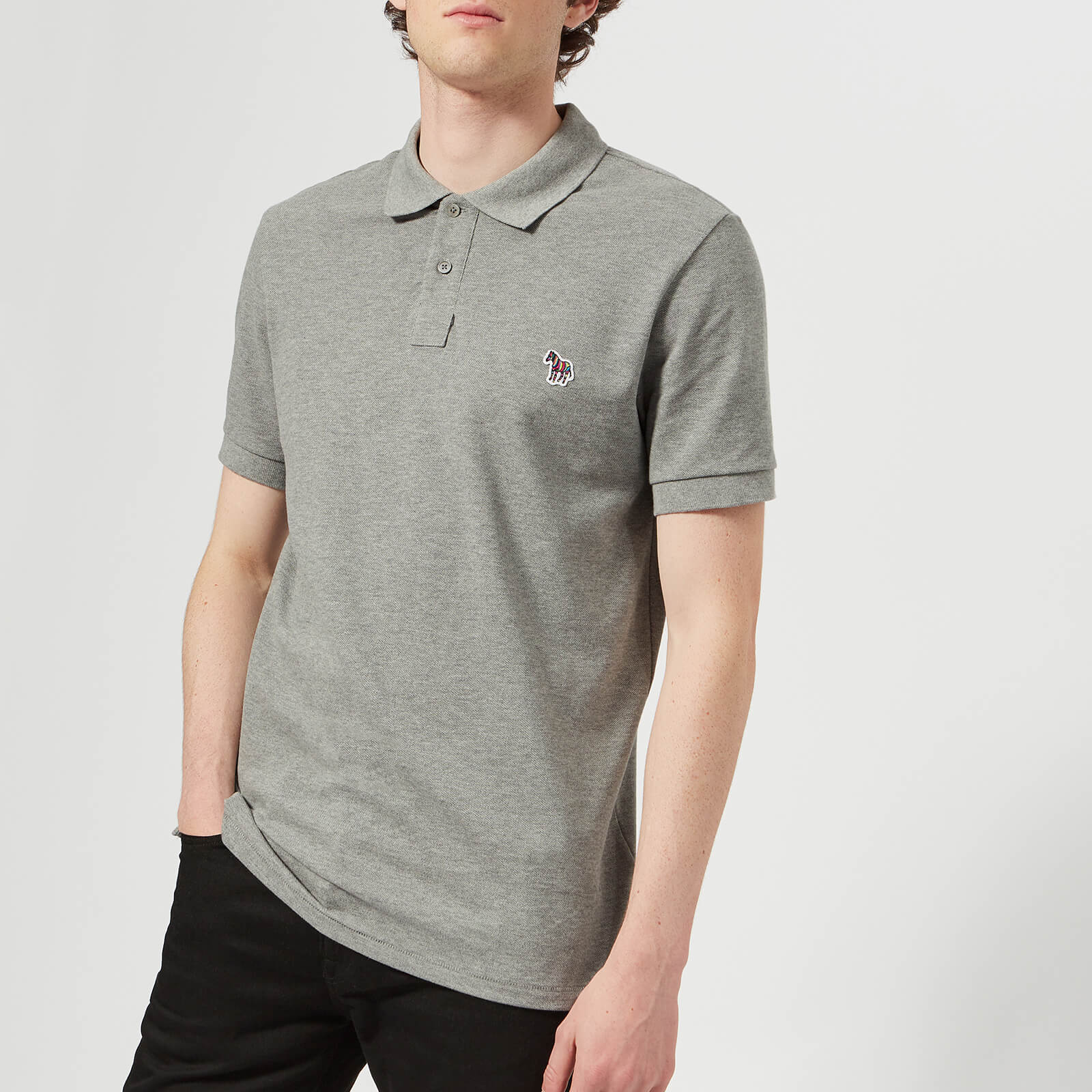 0bba6a697628ec PS by Paul Smith Men's Short Sleeve Zebra Polo Shirt - Grey - Free UK  Delivery over £50