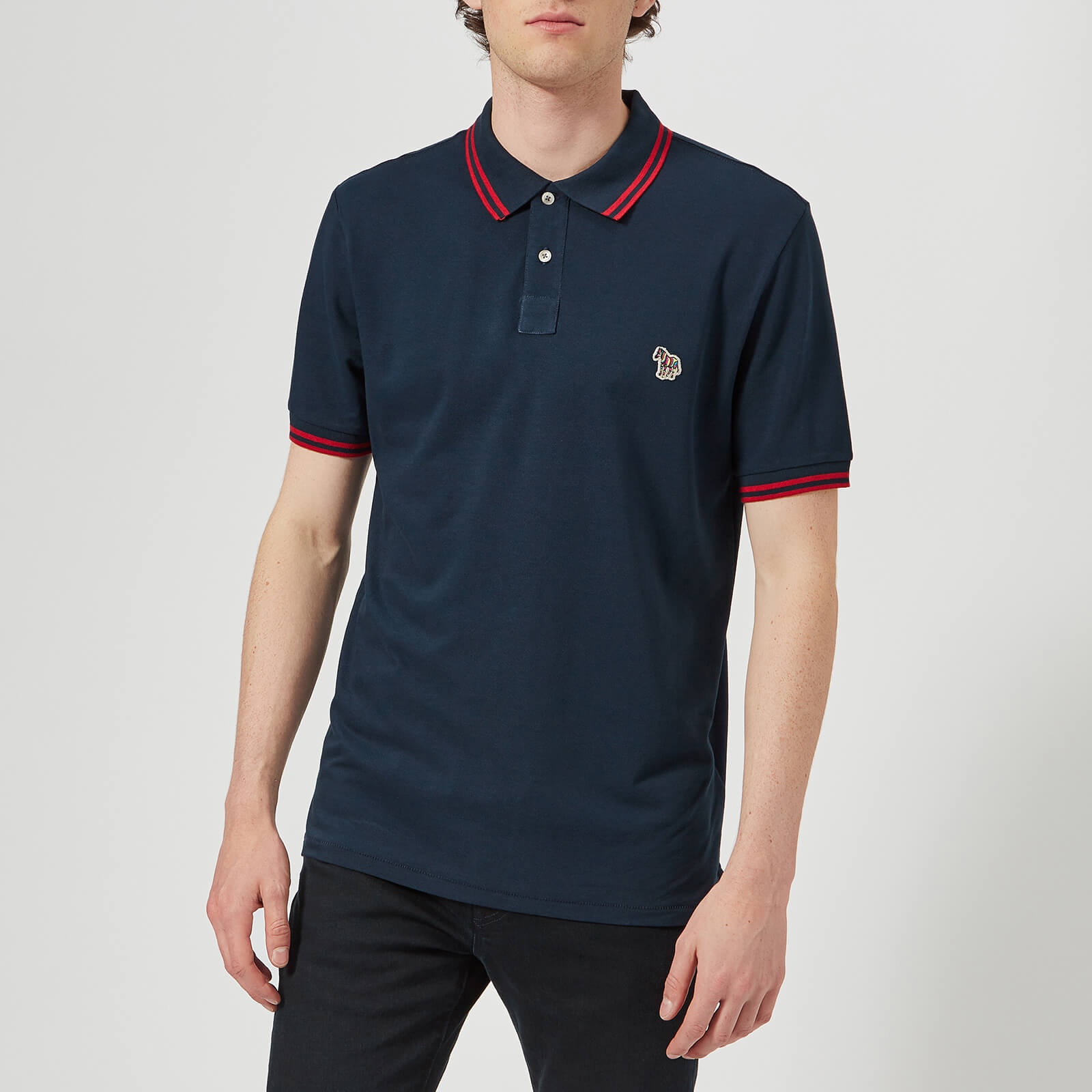 1461f7061 PS Paul Smith Men's Regular Fit Short Sleeve Tipped Polo Shirt - Navy