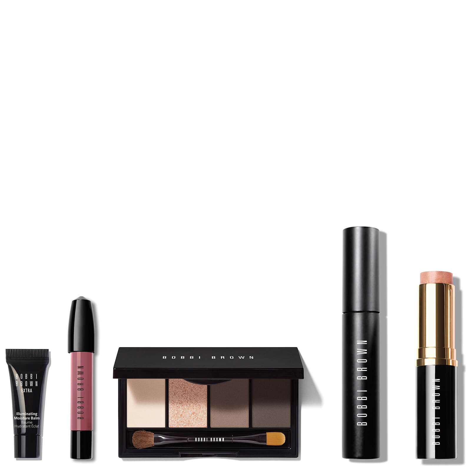 Bobbi Brown Ready In 5 Edition Eye Cheek And Lip Kit Free Illuminating Palette Limited Description Browns