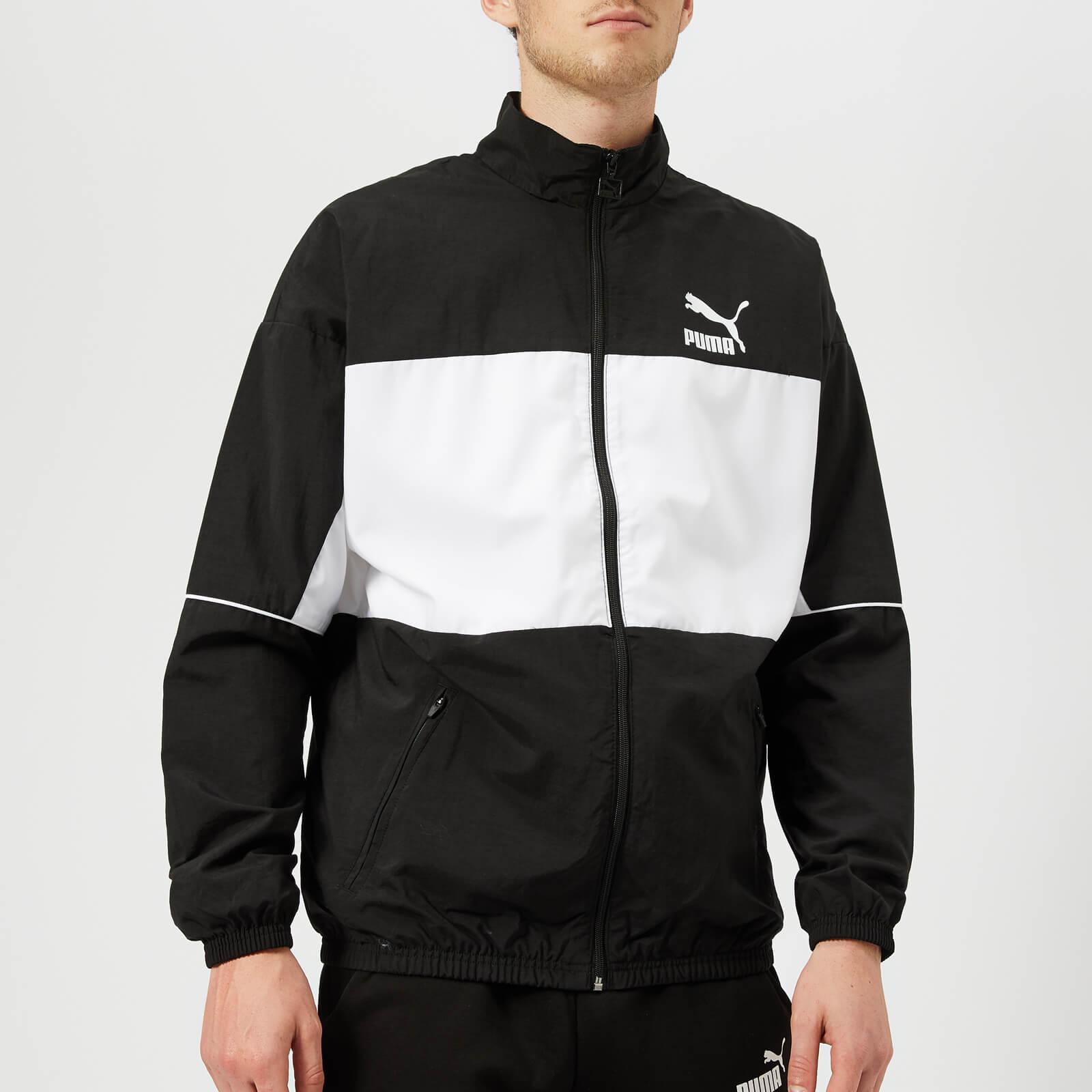 d3e39c112c64 Puma Men s Retro Woven Track Jacket - Puma Black Clothing