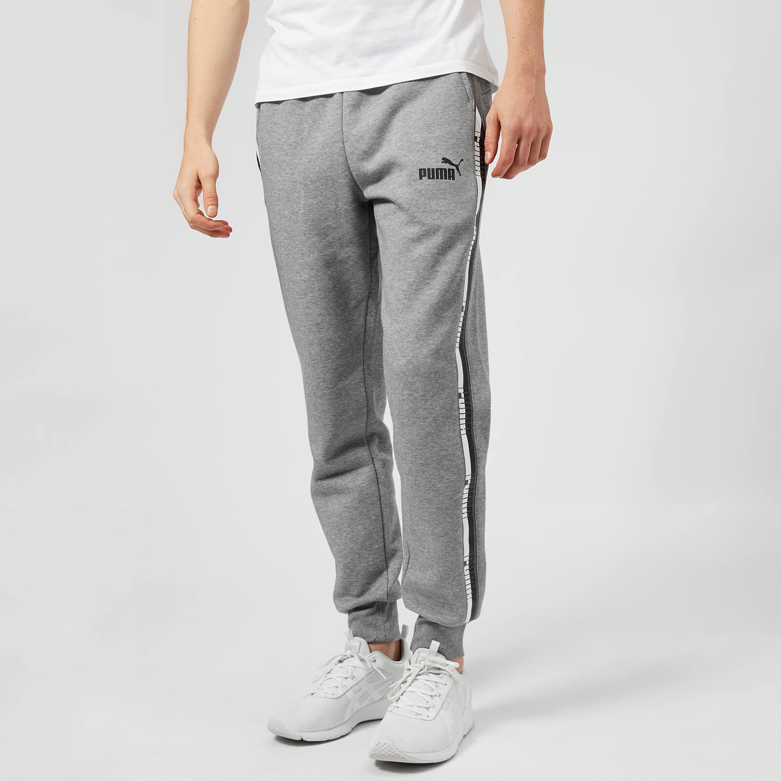 4dfce684a81a Puma Men s Elevated Essential Tape Pants - Medium Grey Heather Clothing