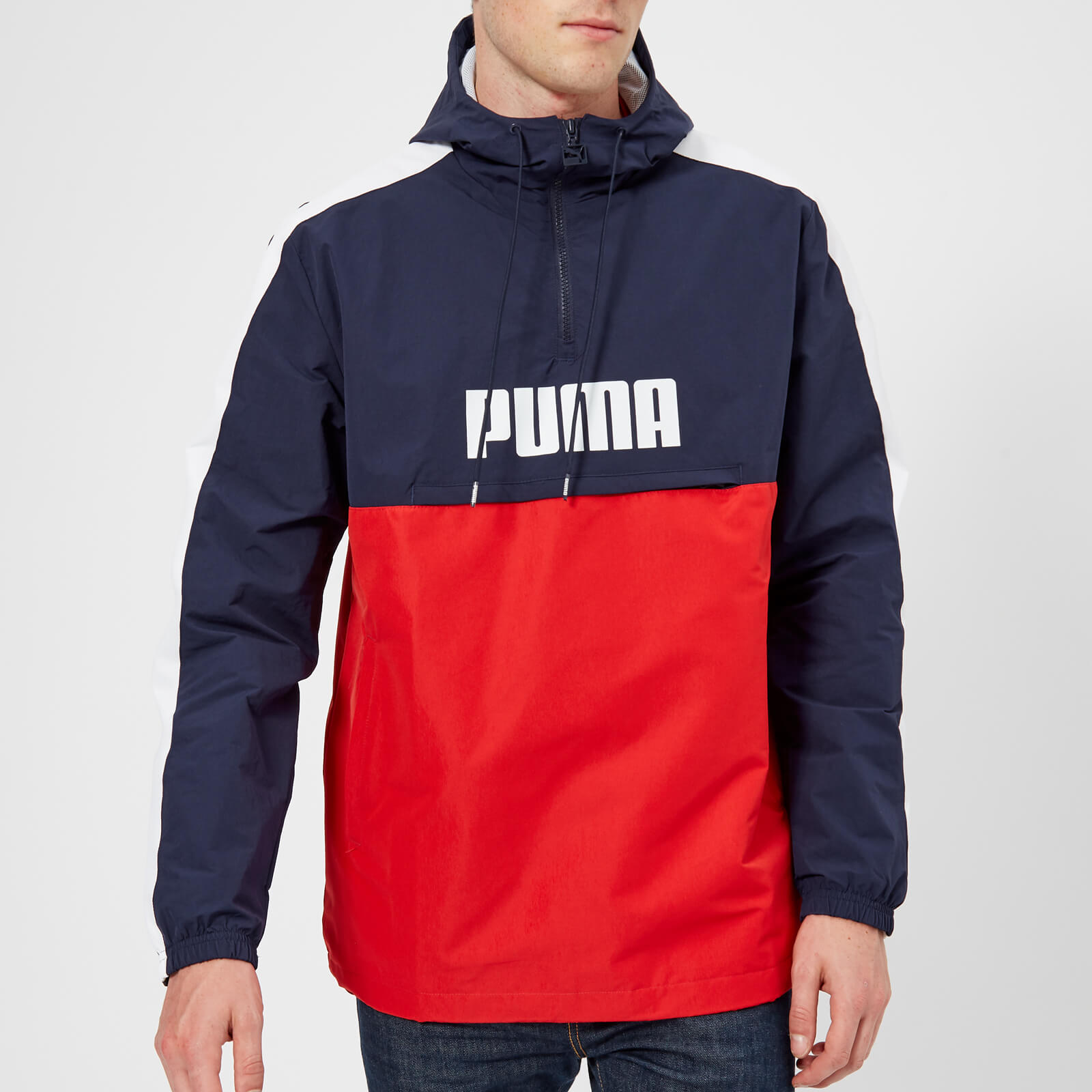 8ce8b7e5019f1 Puma Men's Retro Half Zip Windbreaker Jacket - Peacoat