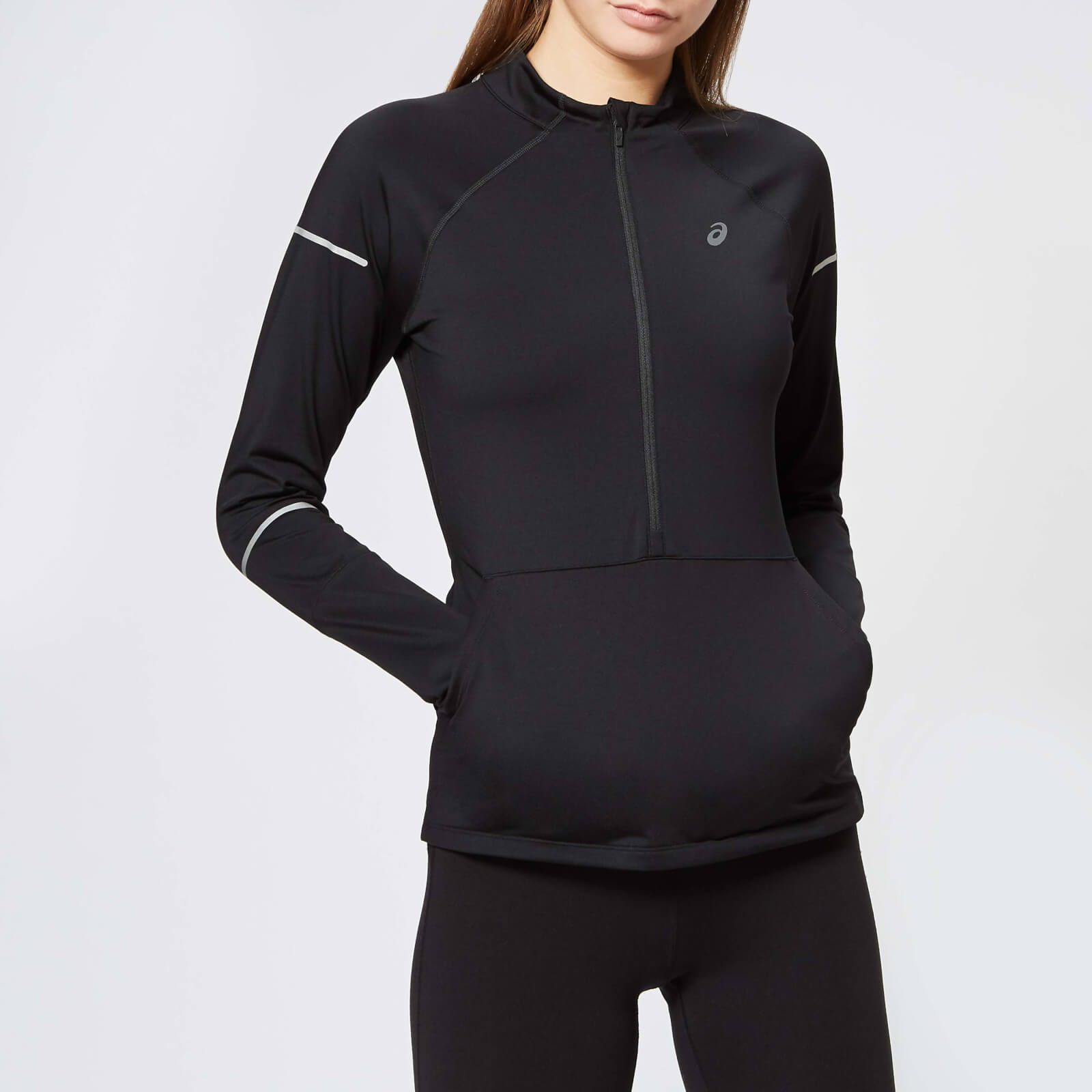 7ed87fcfc162 Asics Women's Lite-Show Winter Long Sleeve 1/2 Zip Top - Performance Black  | ProBikeKit UK