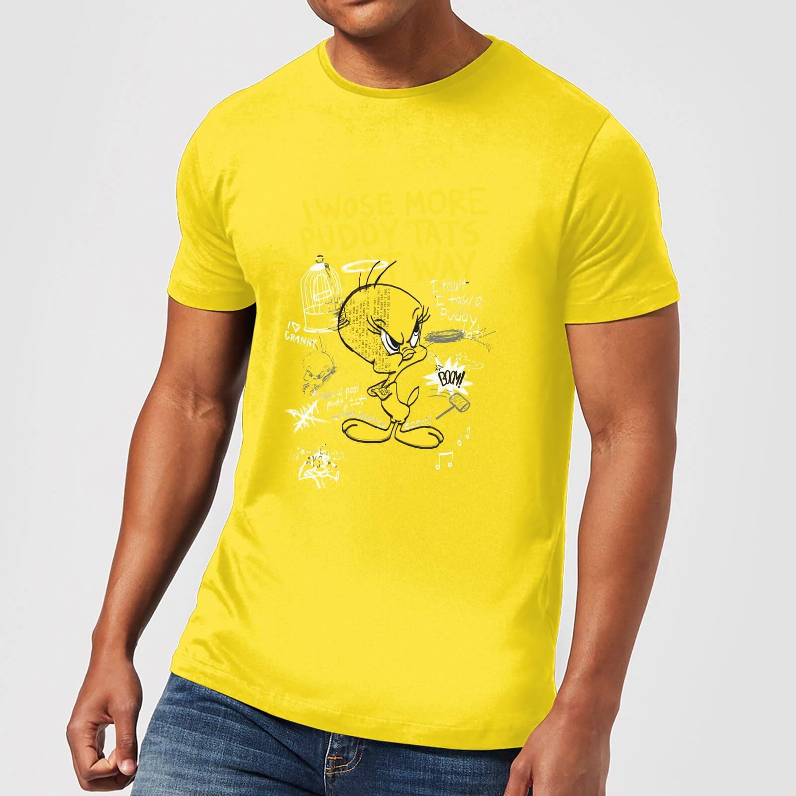 Tunes Fâché T Shirt Homme Jaune Looney Titi 0kPOnw