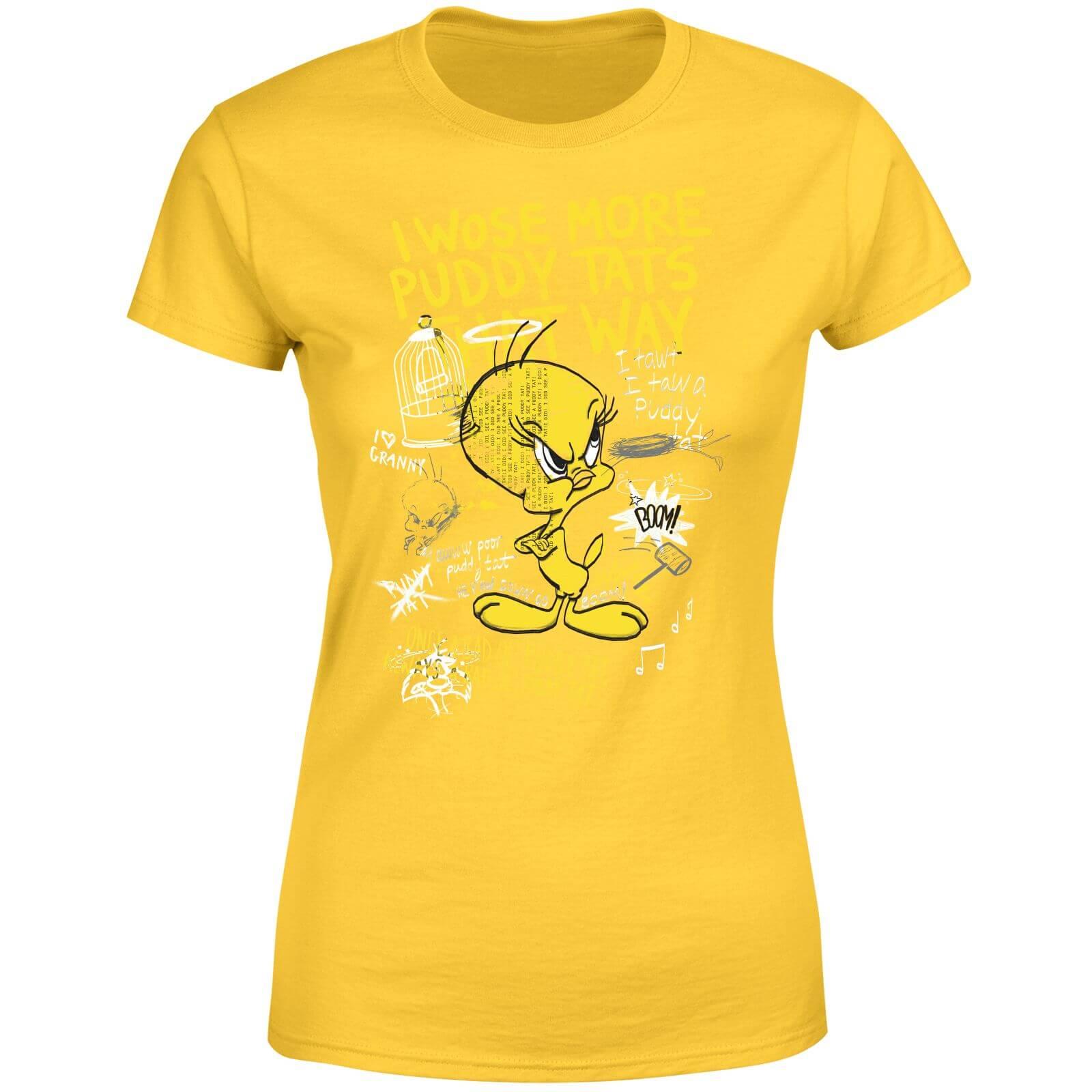 Titi Looney Femme Fâché Tunes Jaune T Shirt Aq354jRL