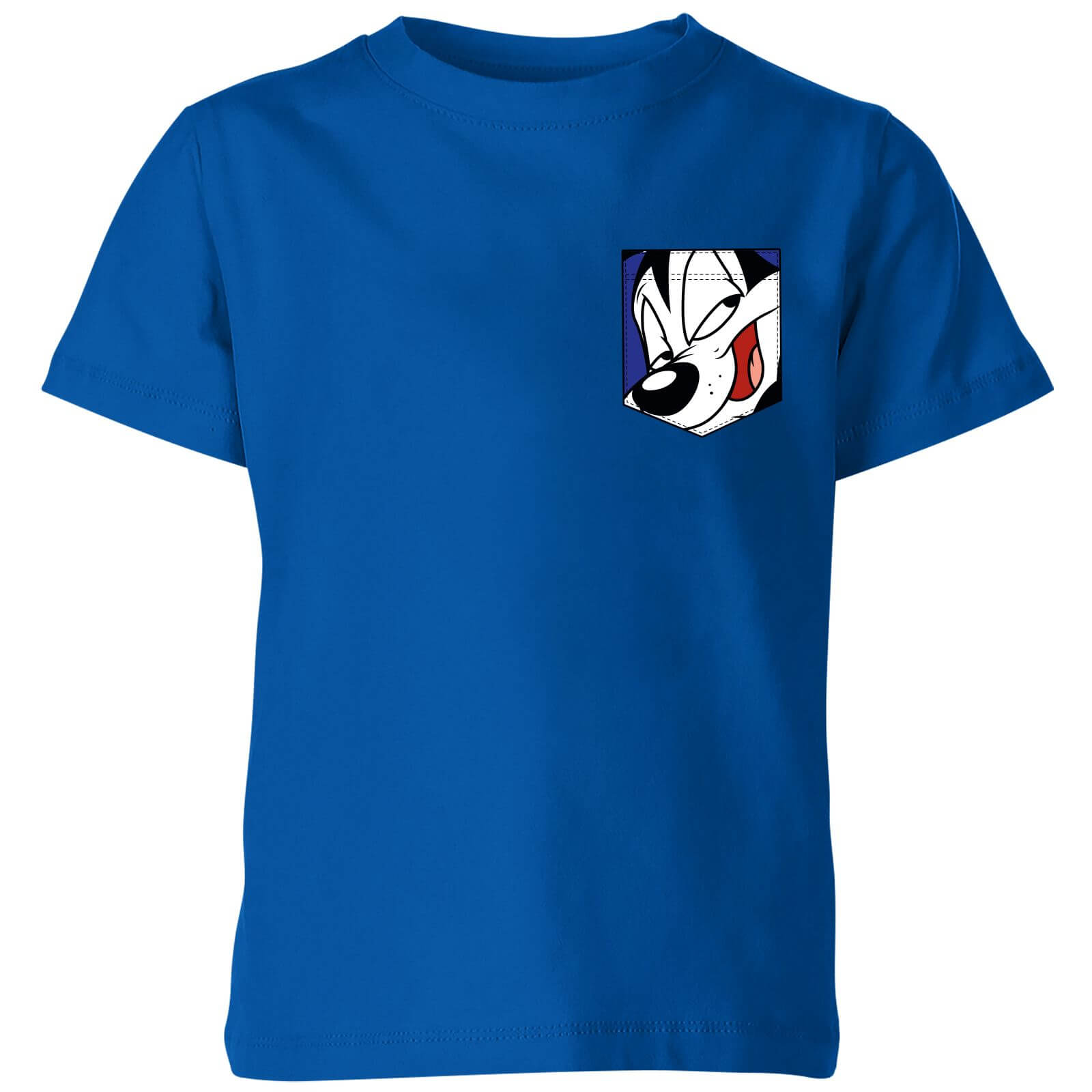 Looney Tunes Pepe Le Pew Face Faux Pocket Kids