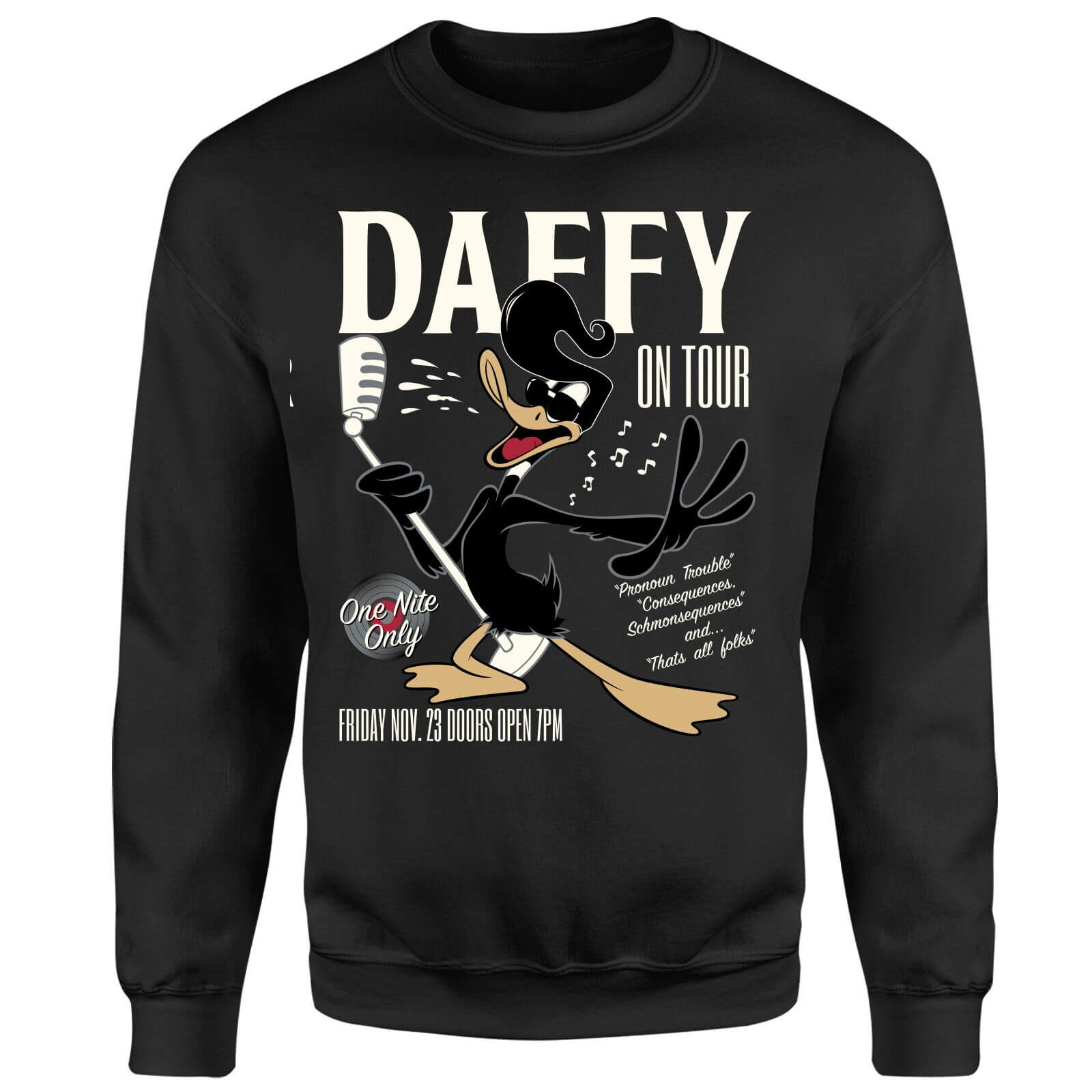 Looney Tunes Daffy Concert Sweatshirt - Black